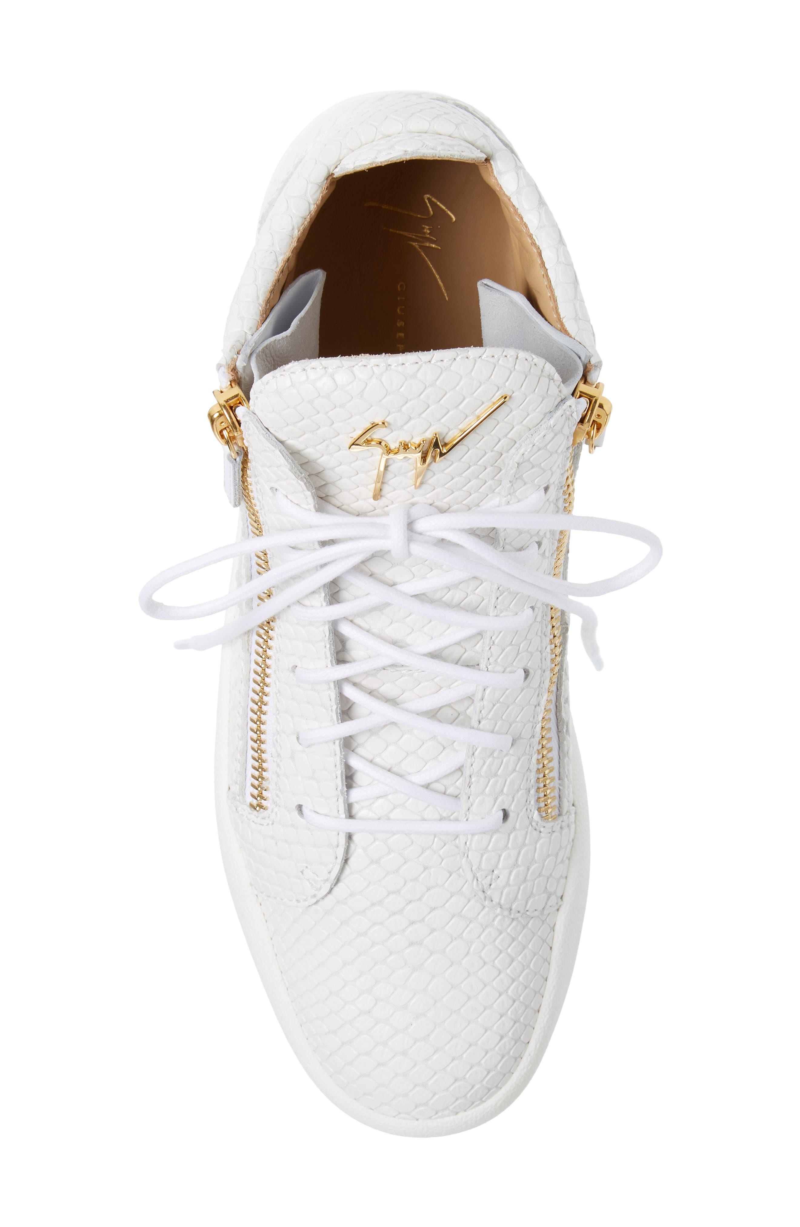 Mid Top Sneaker,                             Alternate thumbnail 5, color,                             BIANCO
