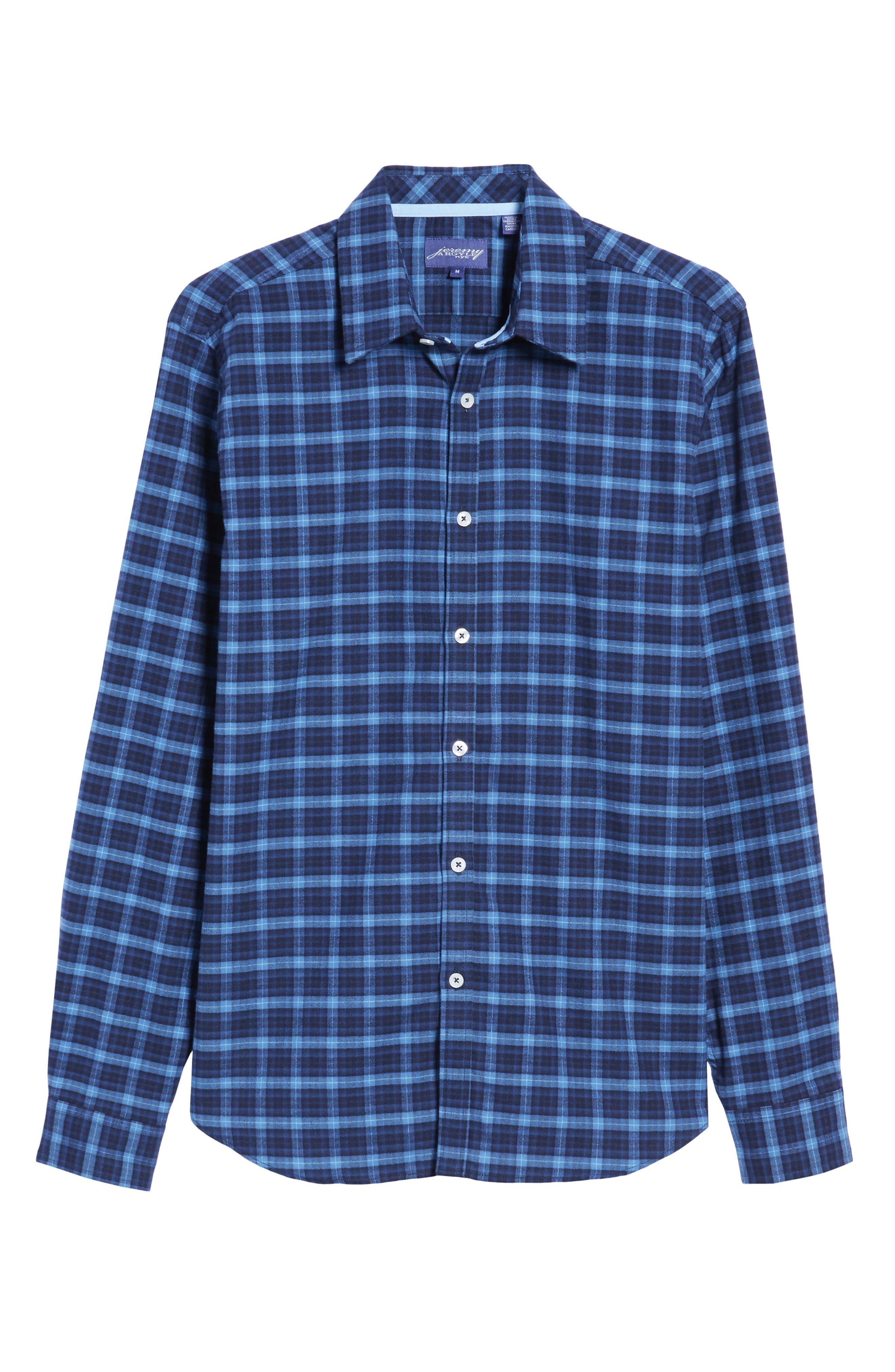 Regular Fit Plaid Sport Shirt,                             Alternate thumbnail 6, color,                             410