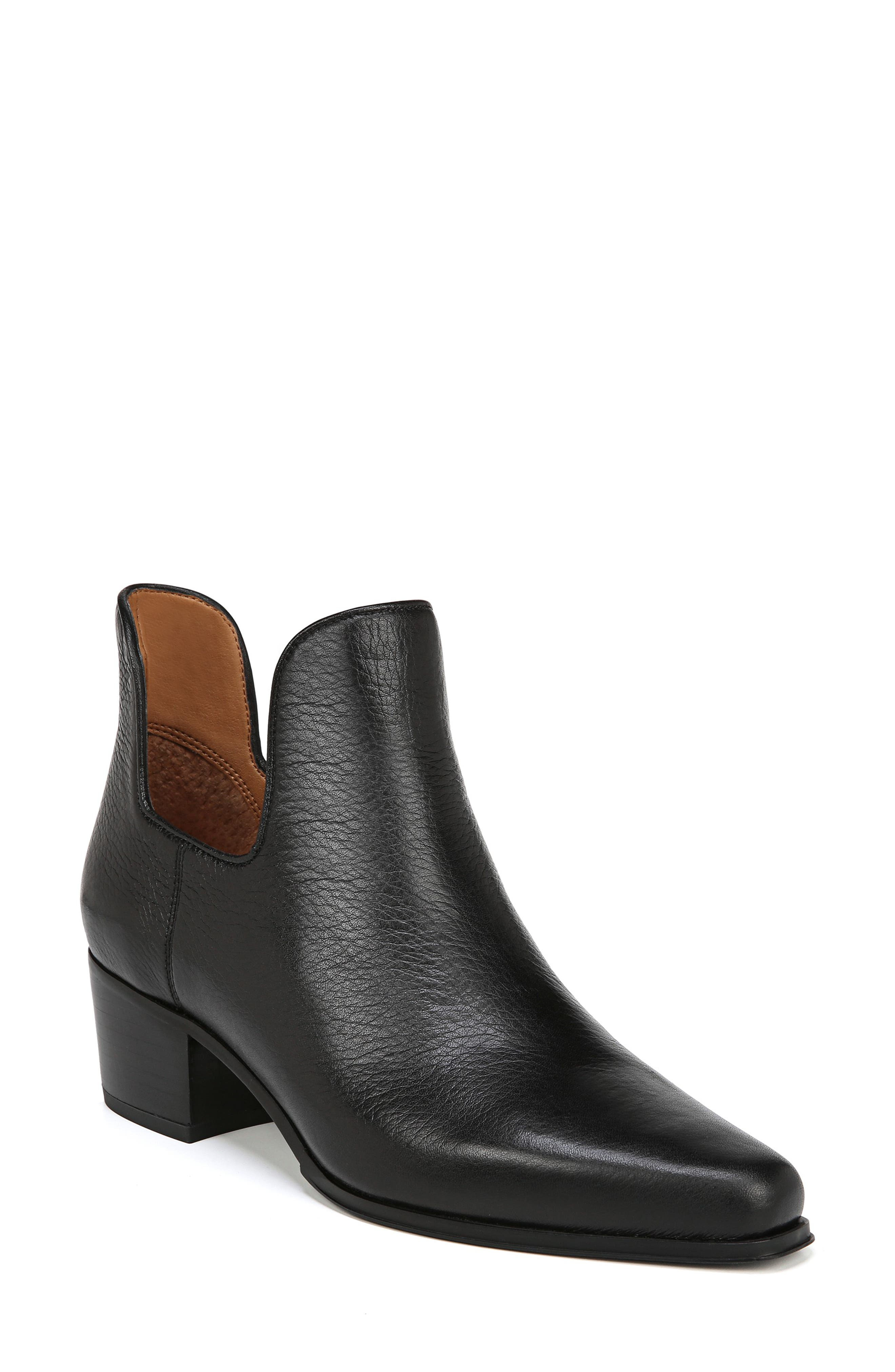Ashbury Bootie,                             Main thumbnail 1, color,                             BLACK TUMBLED LEATHER