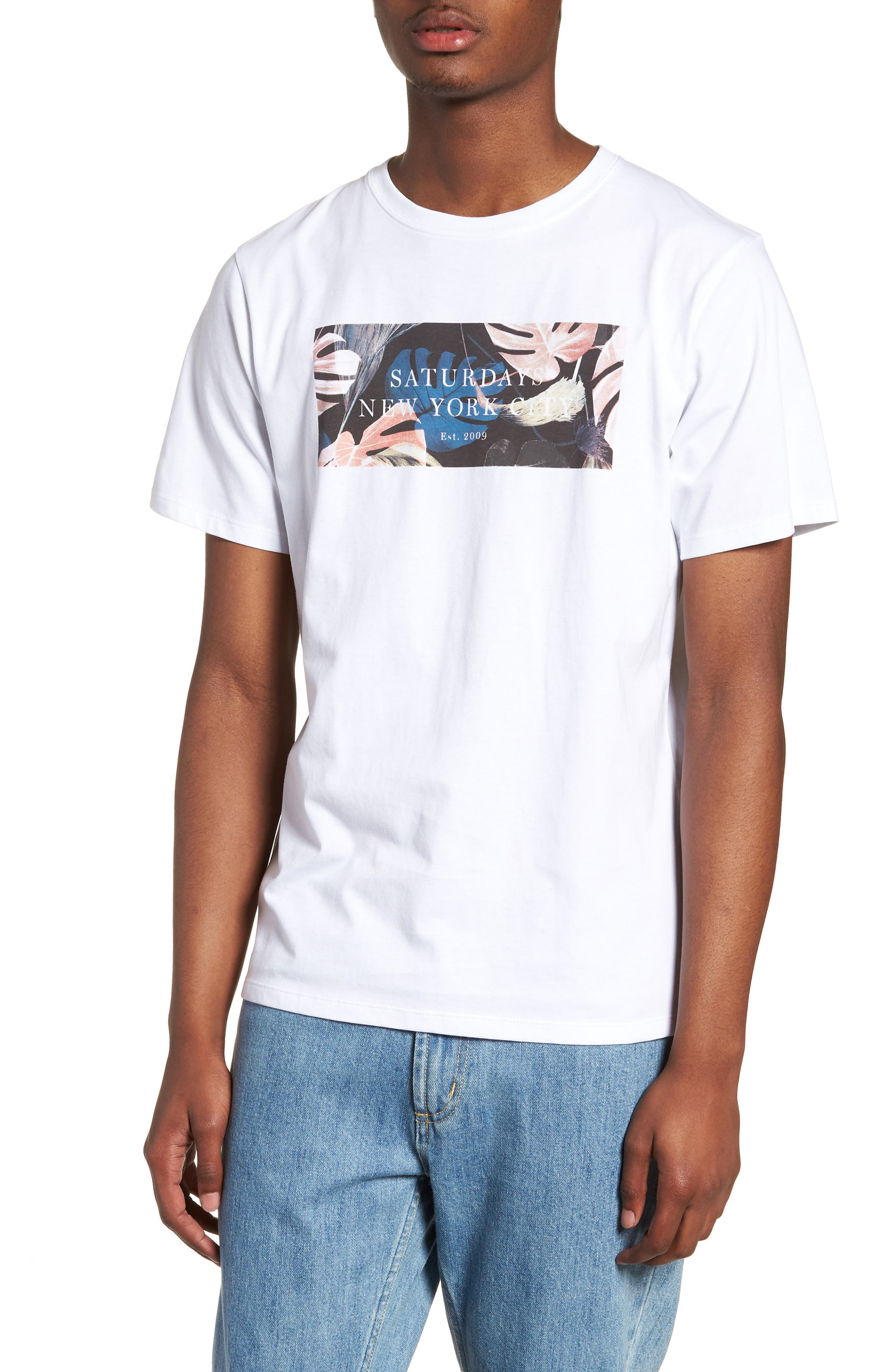 Monstera Block T-Shirt,                             Main thumbnail 1, color,                             110