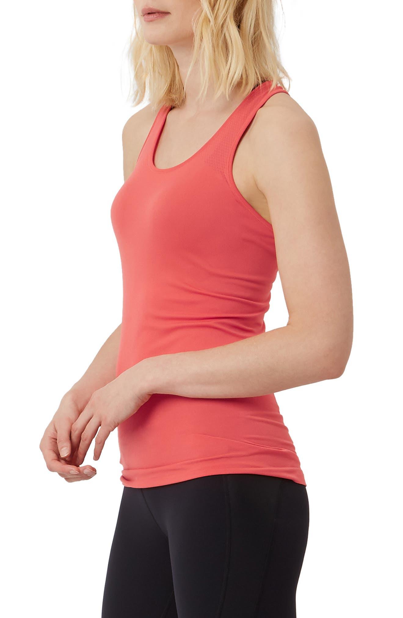 Athlete Seamless Workout Tank,                             Alternate thumbnail 3, color,                             REBEL RED
