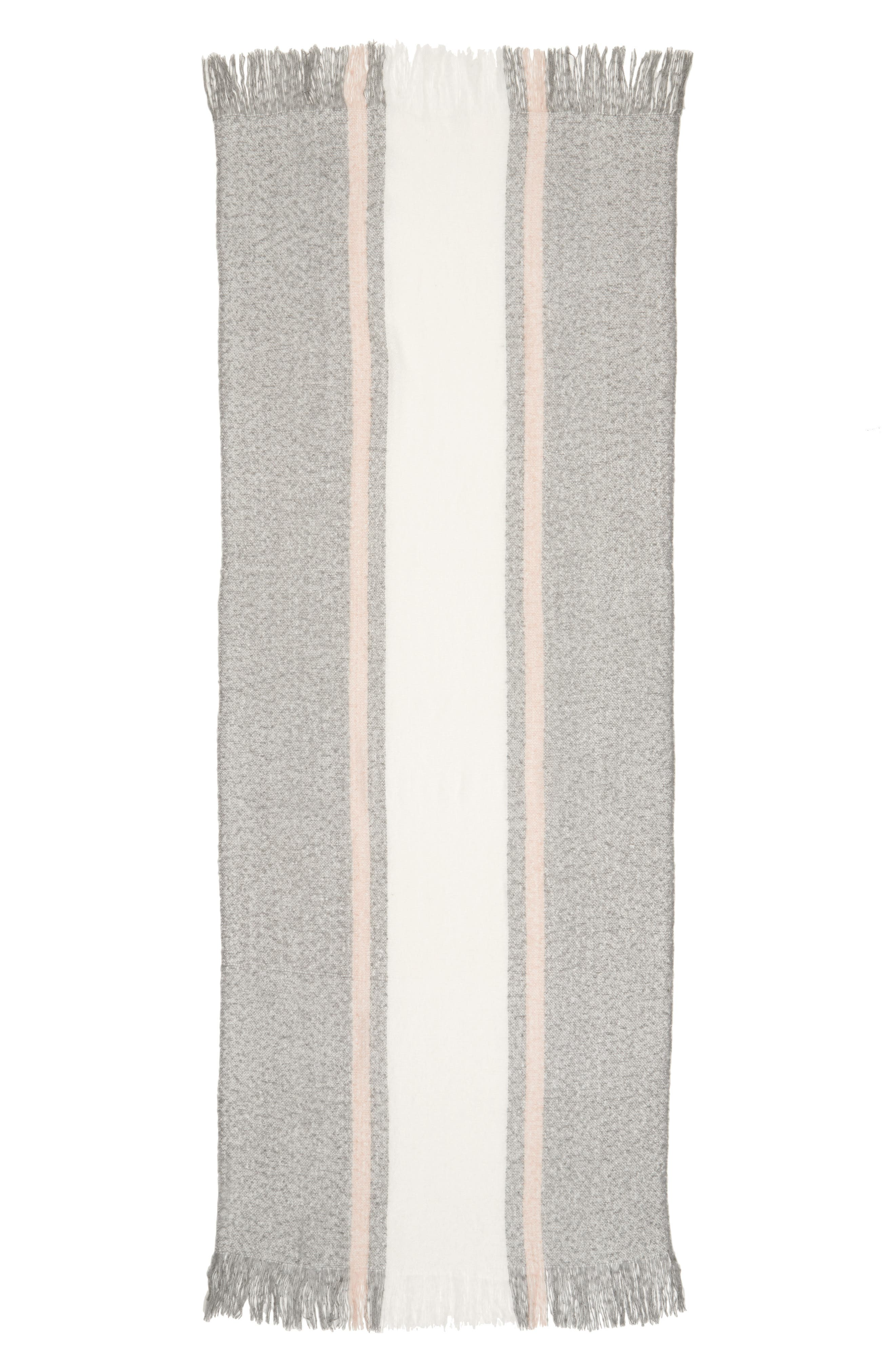 Center Stripe Scarf,                             Alternate thumbnail 2, color,                             GREY MULTI