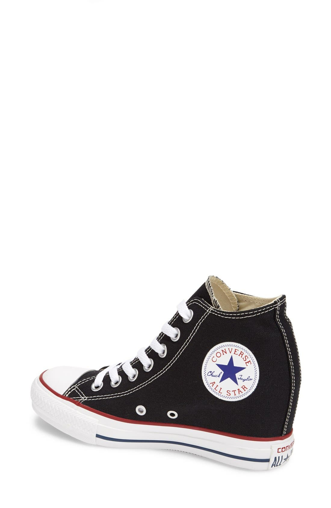CONVERSE,                             Chuck Taylor<sup>®</sup> 'Lux Corel' High Top Sneaker,                             Alternate thumbnail 2, color,                             001