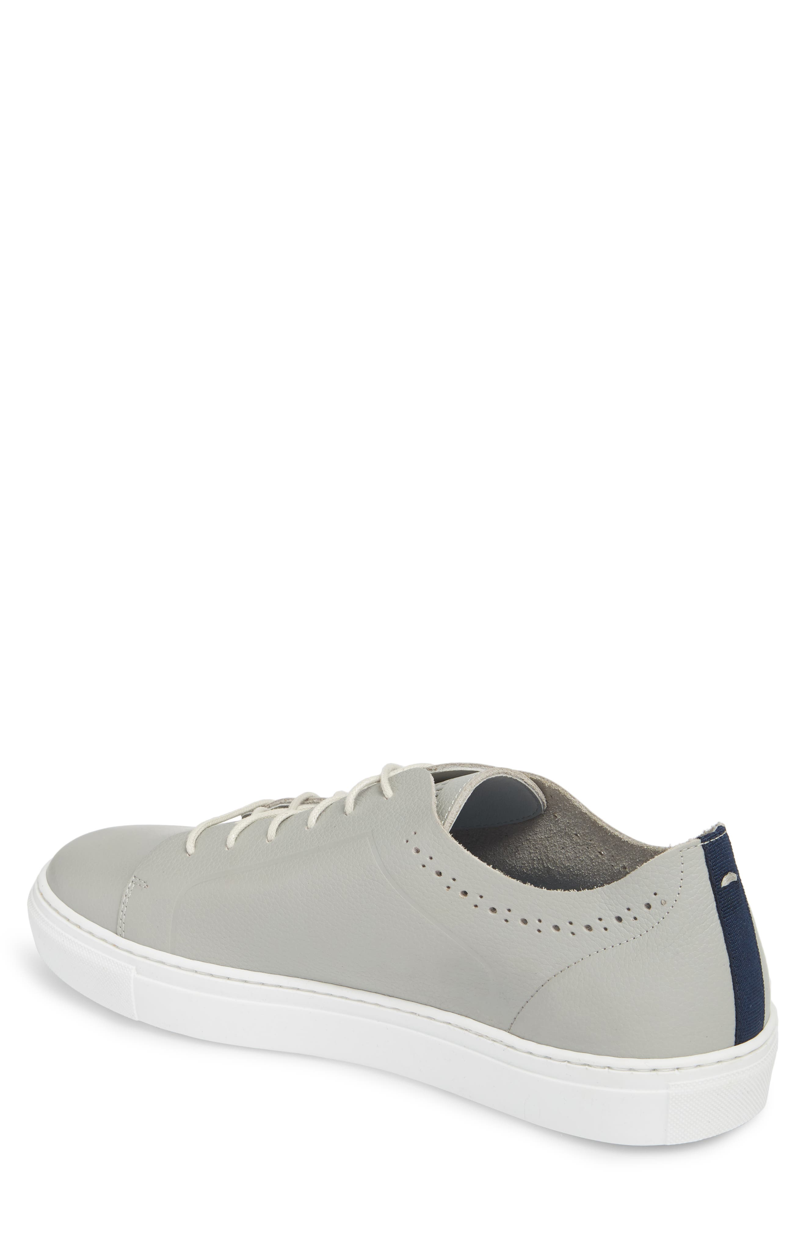 Nowull Brogued Sneaker,                             Alternate thumbnail 2, color,                             LIGHT GREY LEATHER
