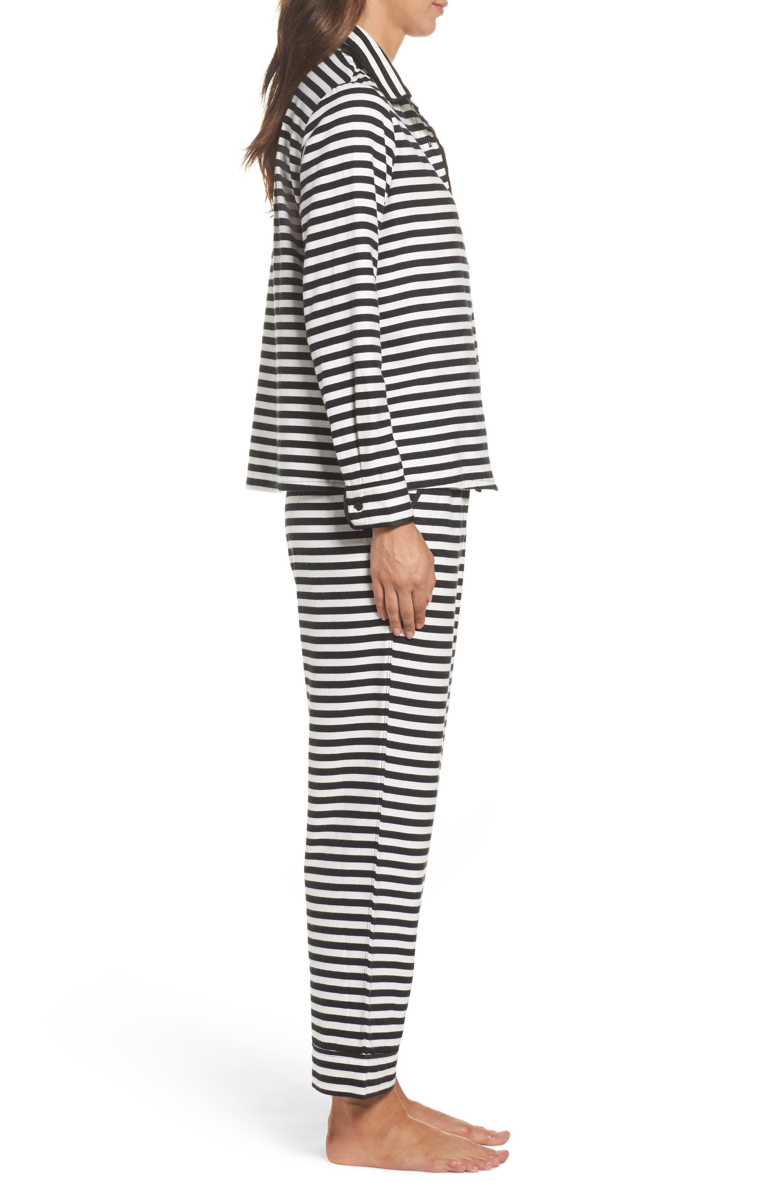 flannel pajamas,                             Alternate thumbnail 3, color,                             008