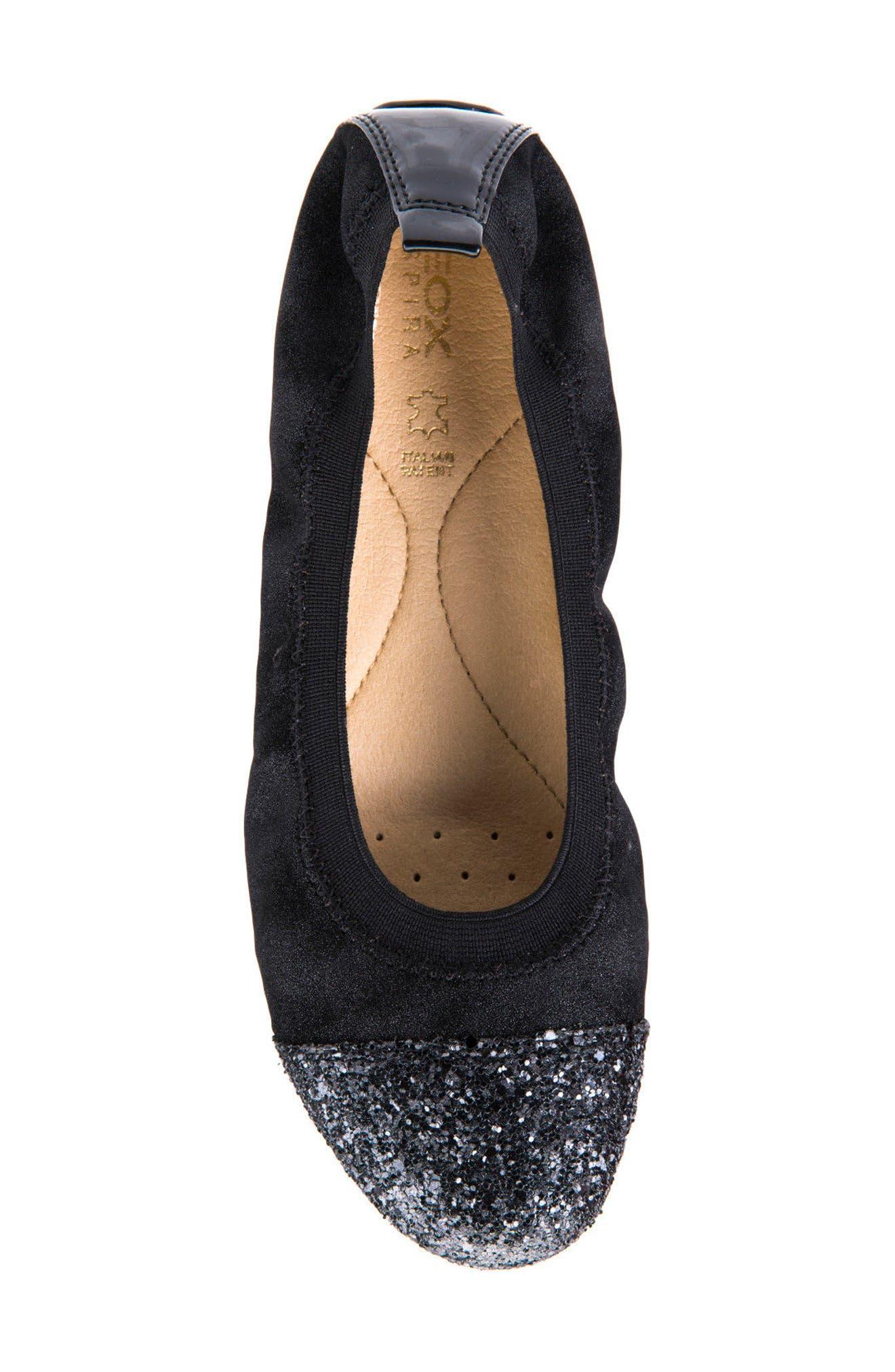 Piuma Cap Toe Ballet Flat,                             Alternate thumbnail 5, color,                             022