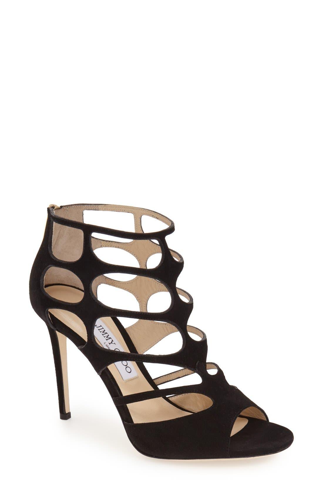'Ren' Cutout Sandal,                         Main,                         color, 001