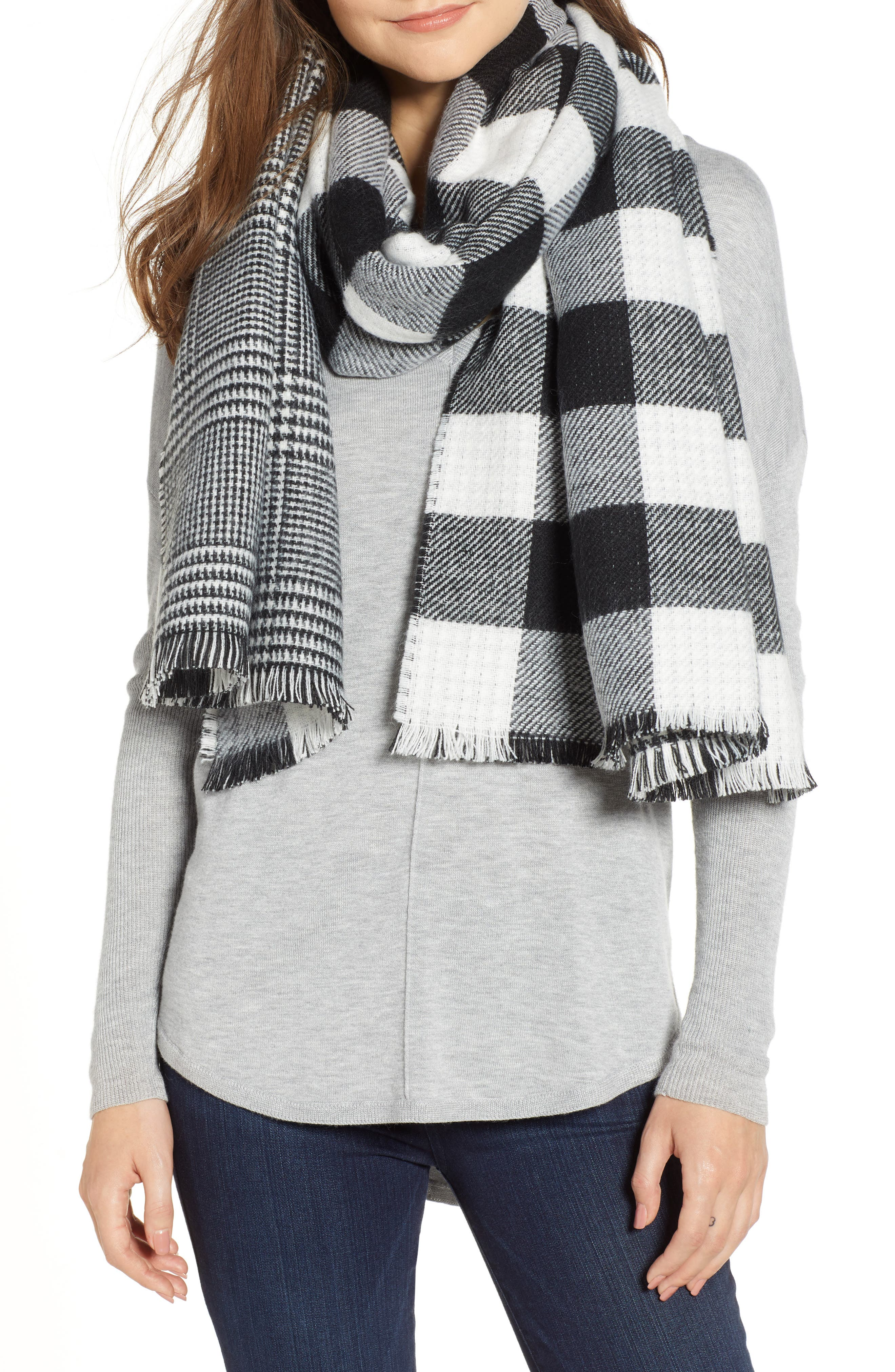 Double Sided Blanket Wrap,                             Main thumbnail 1, color,                             001