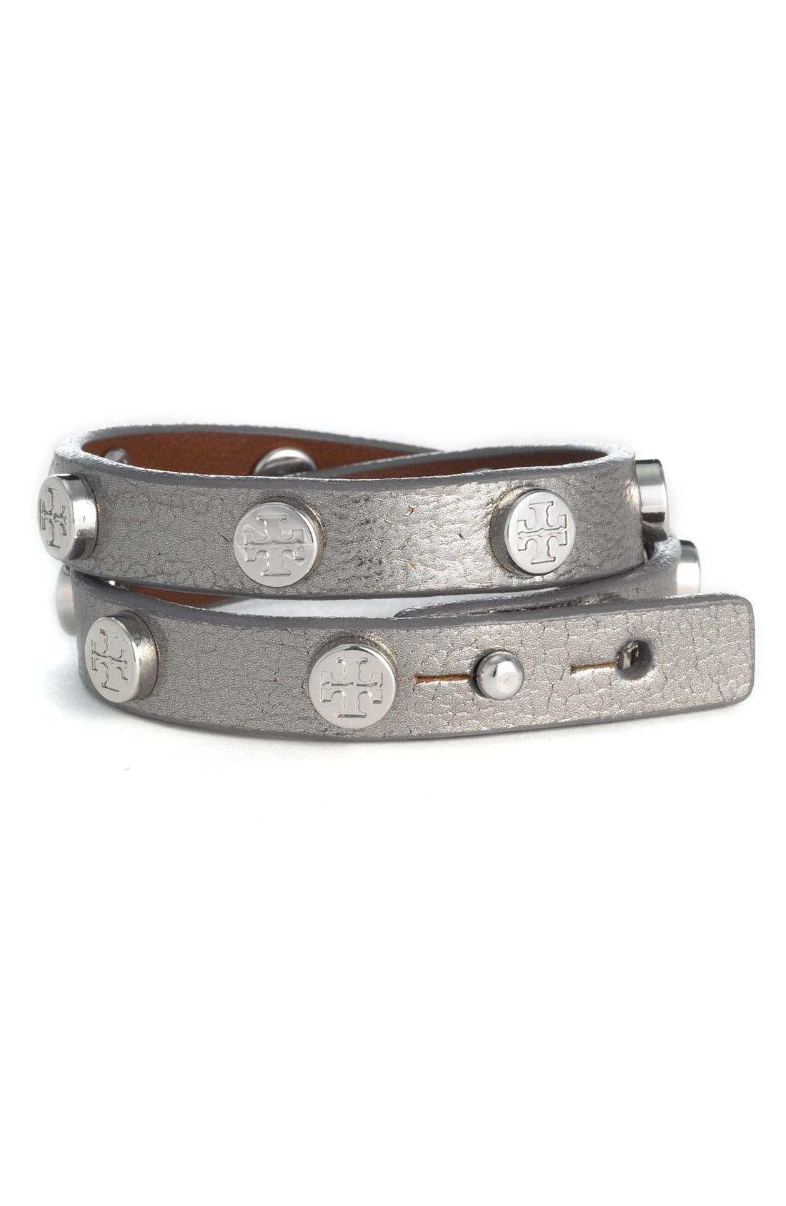 Double Wrap Logo Bracelet,                             Main thumbnail 1, color,                             040