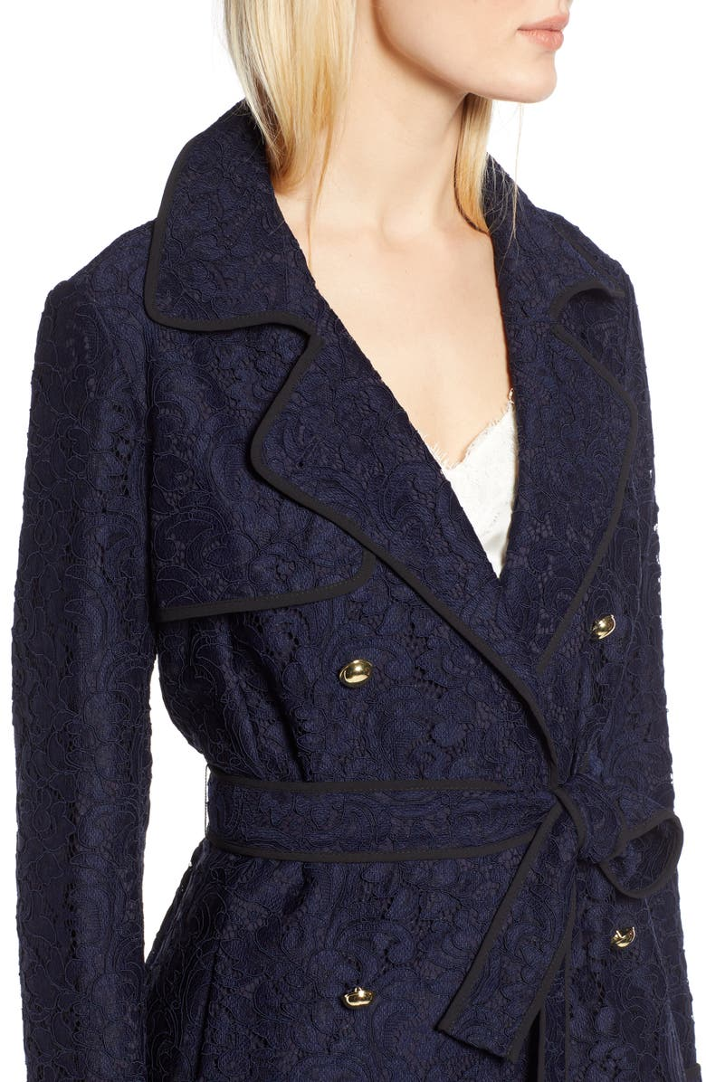 Halogen® x Atlantic-Pacific Lace Trench Coat | Nordstrom