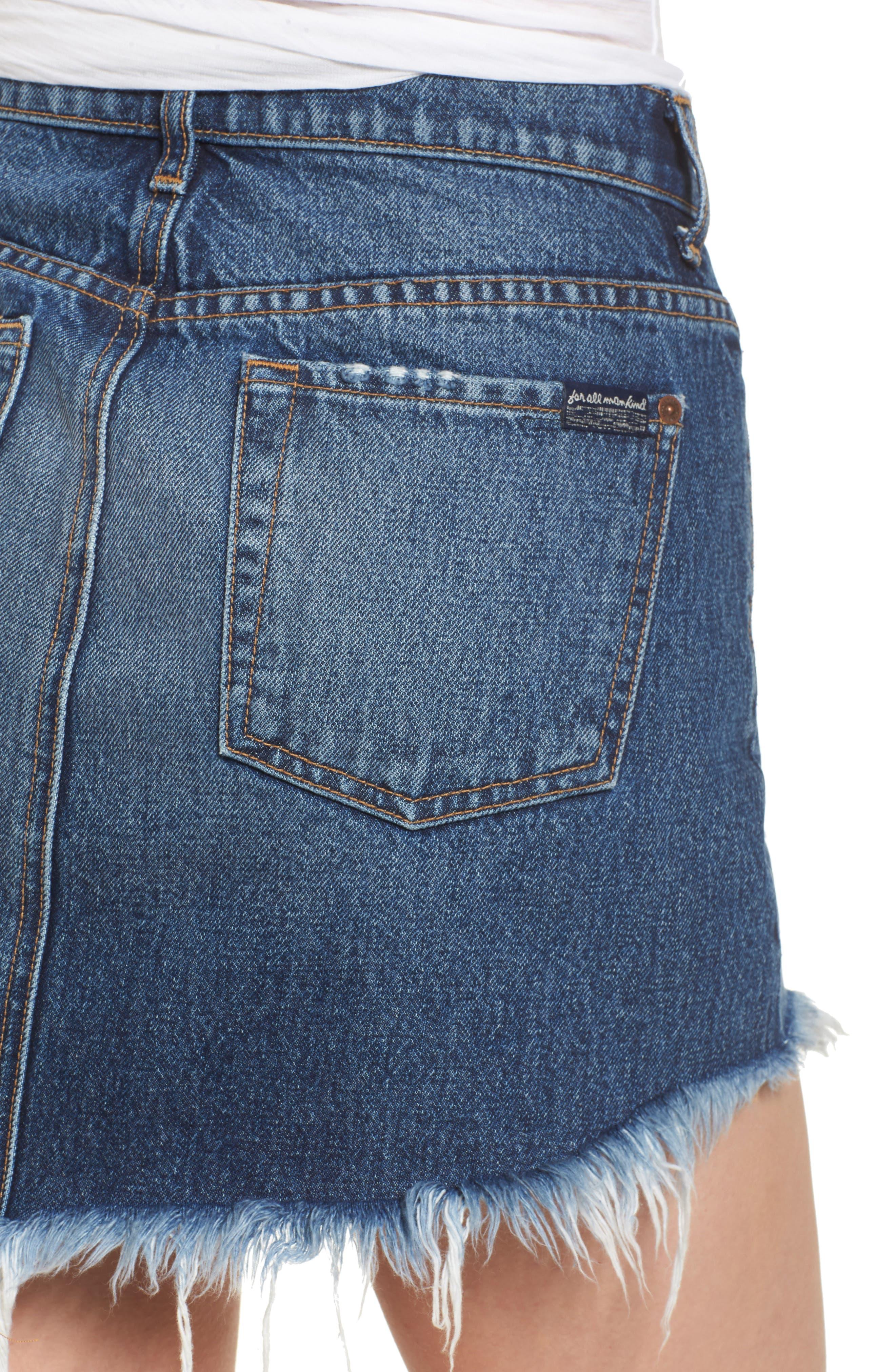 Denim Miniskirt,                             Alternate thumbnail 4, color,                             400