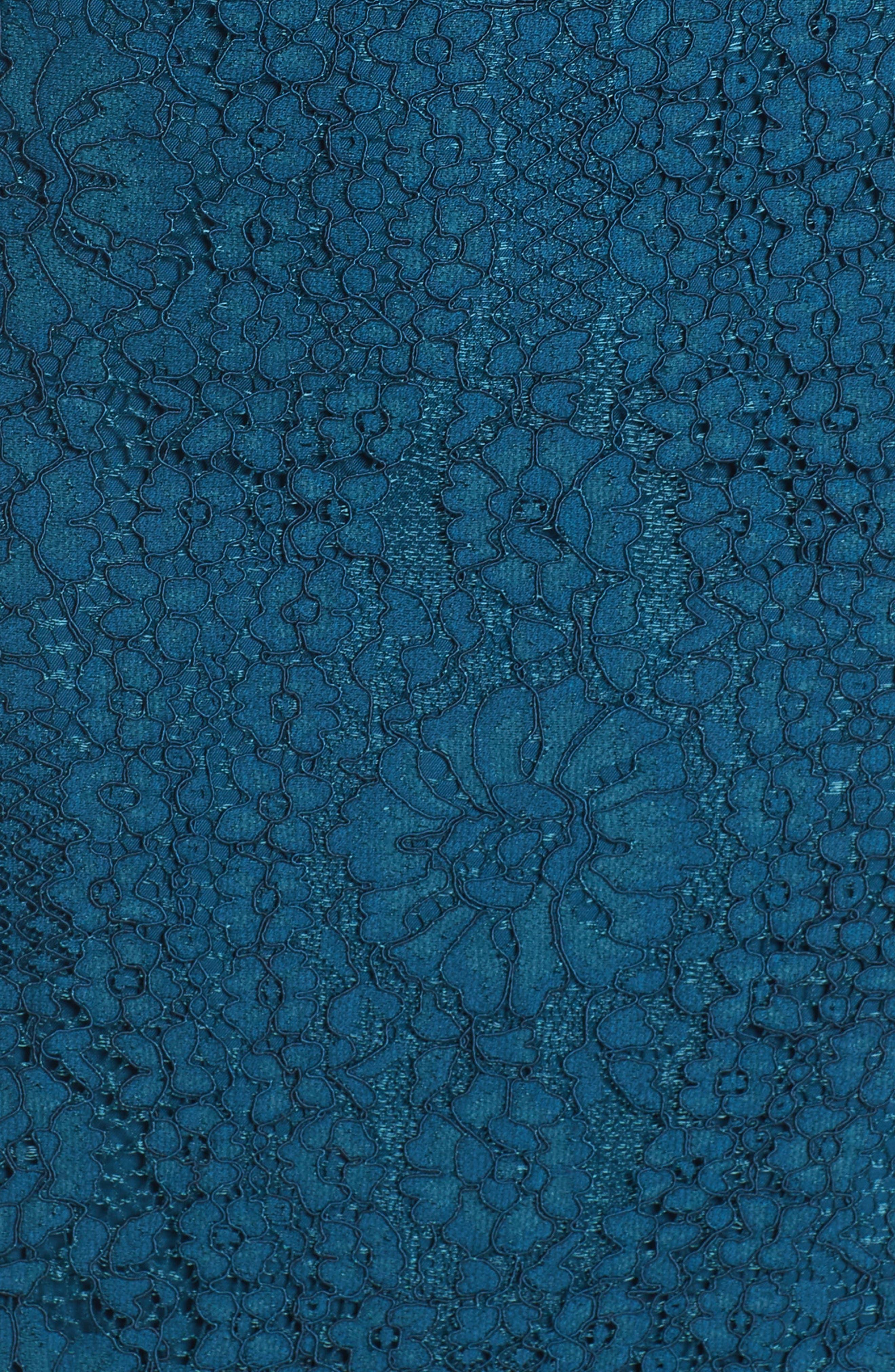 Emilia Lace Peplum Midi Dress,                             Alternate thumbnail 5, color,                             404