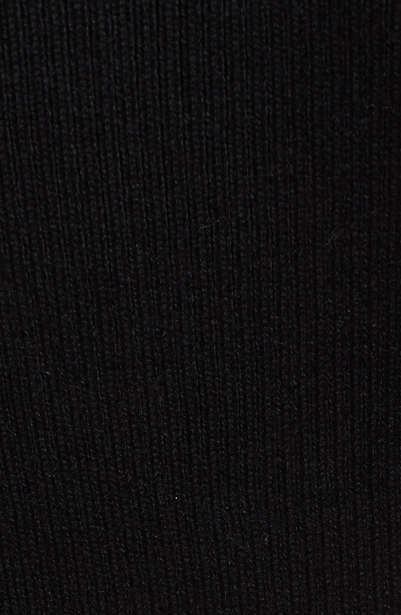 Crisscross Body-Con Dress,                             Alternate thumbnail 6, color,                             001