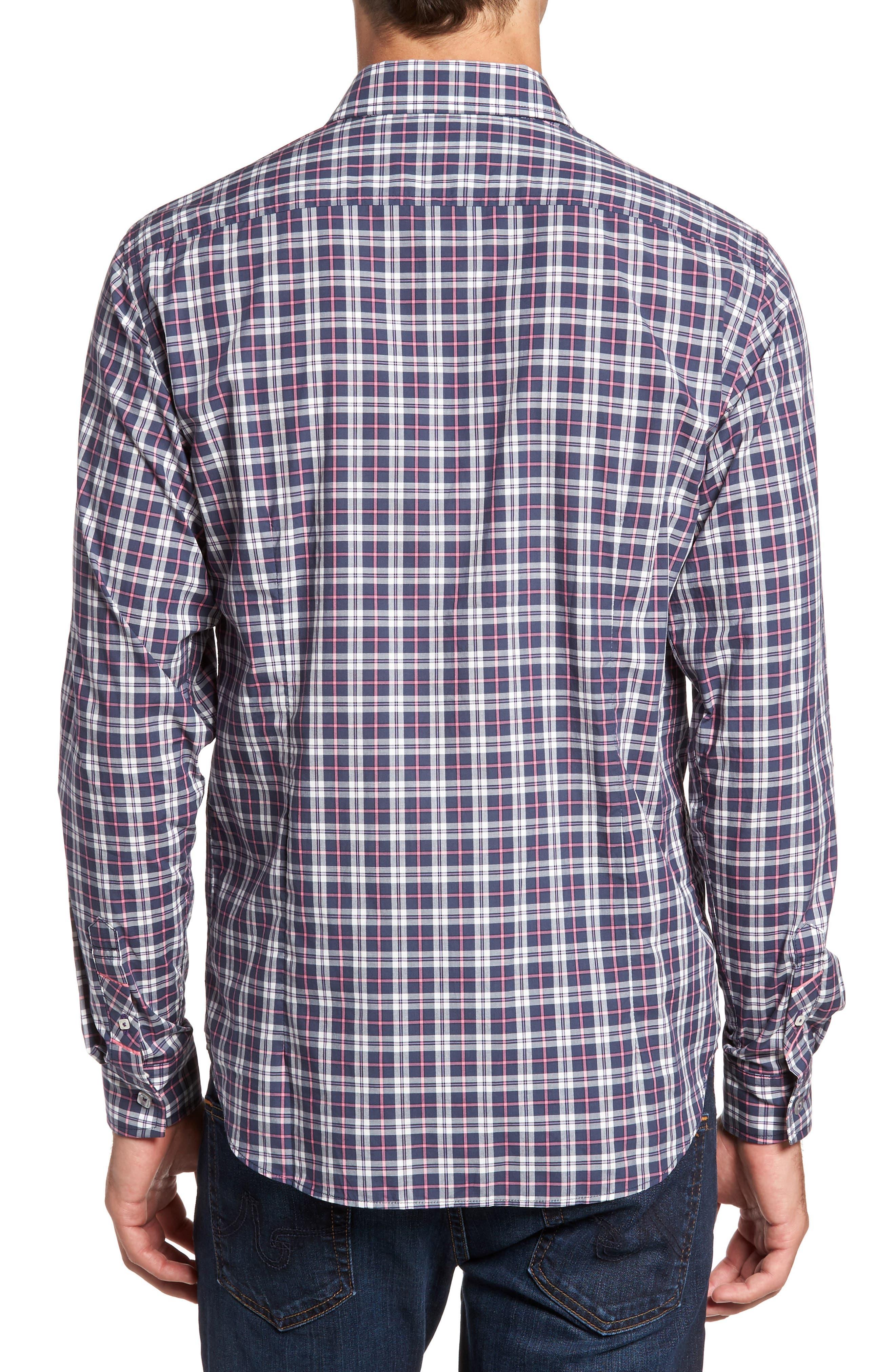 Slim Fit Plaid Sport Shirt,                             Alternate thumbnail 2, color,                             024