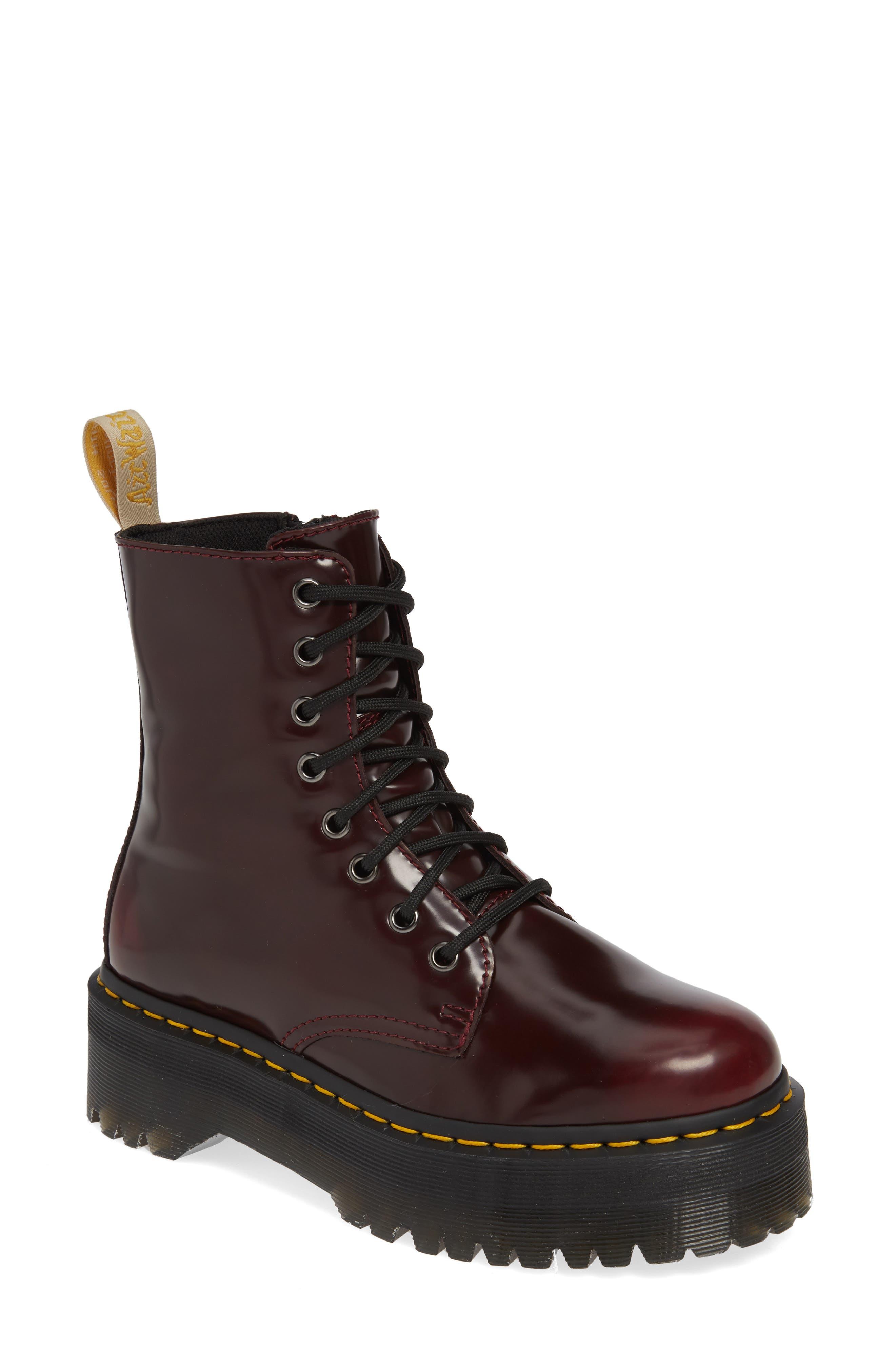 Dr. Martens Jadon Platform Boot, Red
