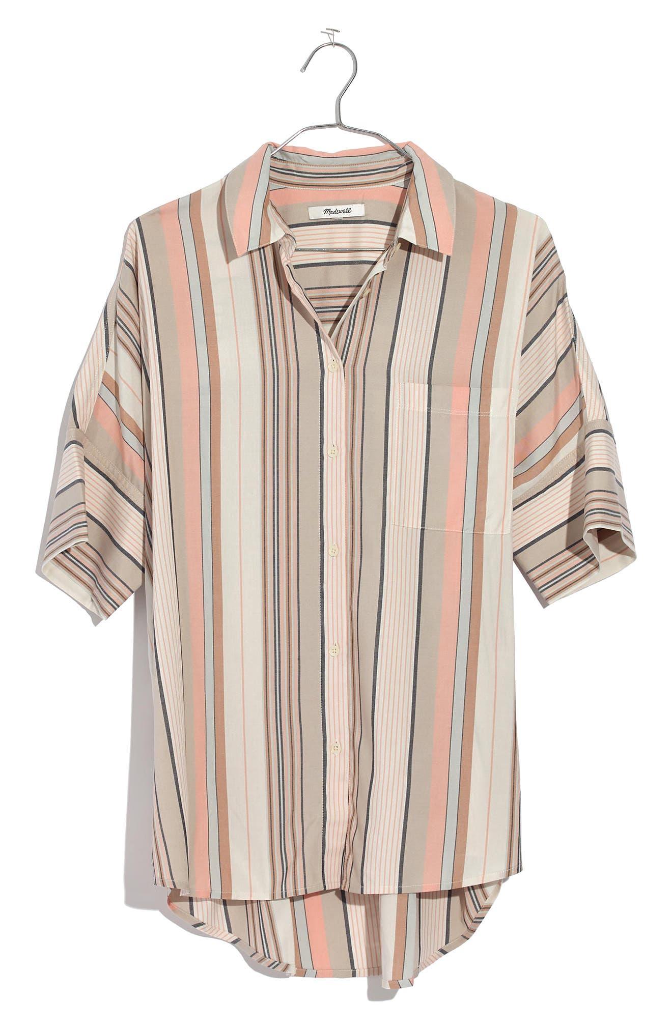 Courier Stripe Shirt,                             Alternate thumbnail 4, color,                             250