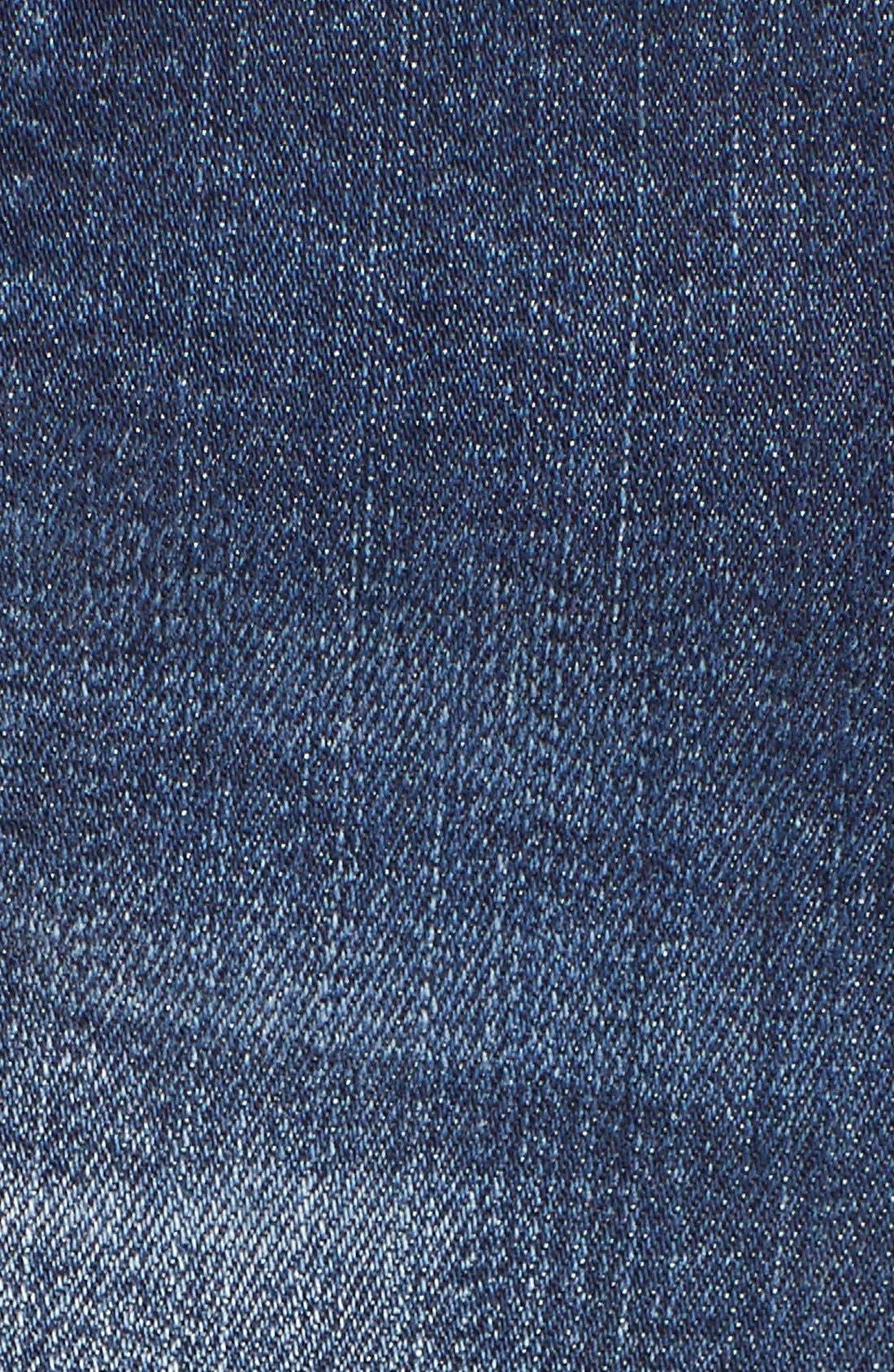 Porkchop Pocket Denim Shorts,                             Alternate thumbnail 4, color,                             405