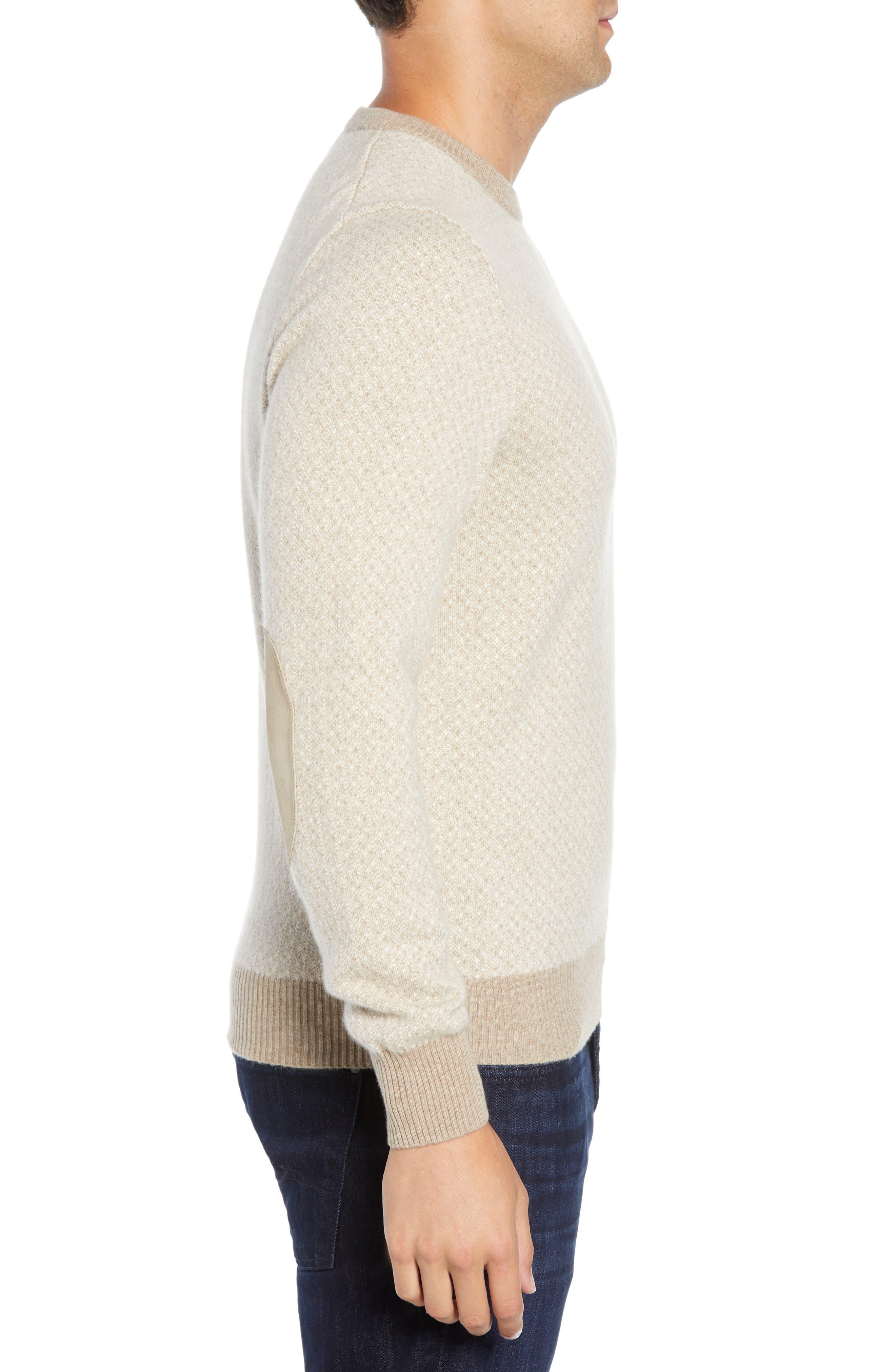 Crewneck Cashmere Sweater,                             Alternate thumbnail 3, color,                             BEIGE