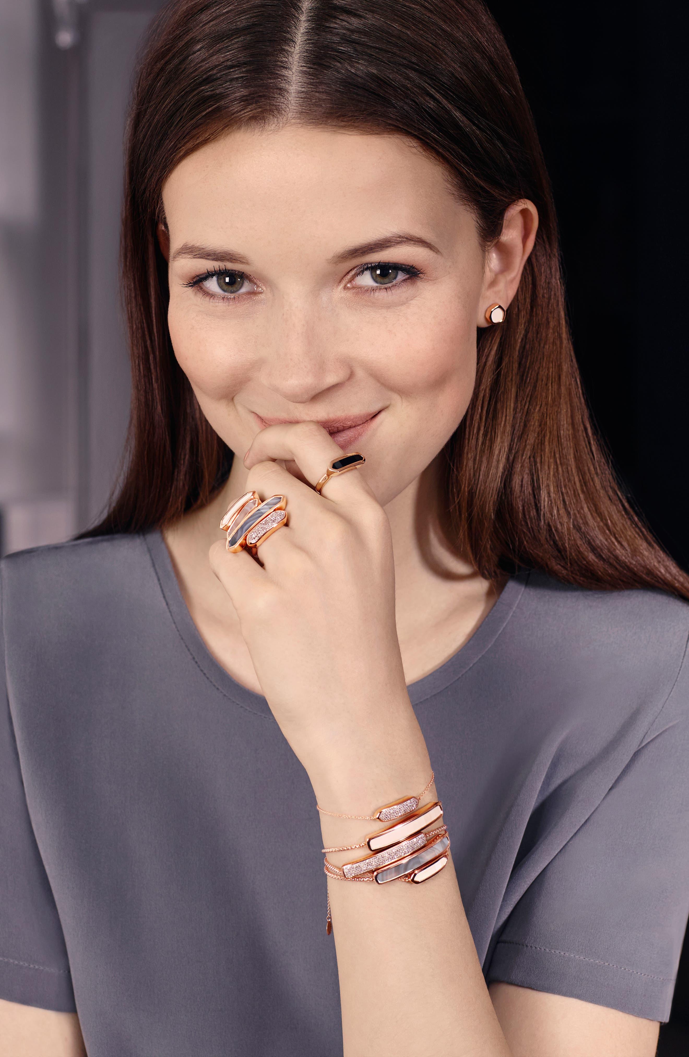 MONICA VINADER,                             Engravable Baja Stone Bracelet,                             Alternate thumbnail 2, color,                             ROSE GOLD/ GREY