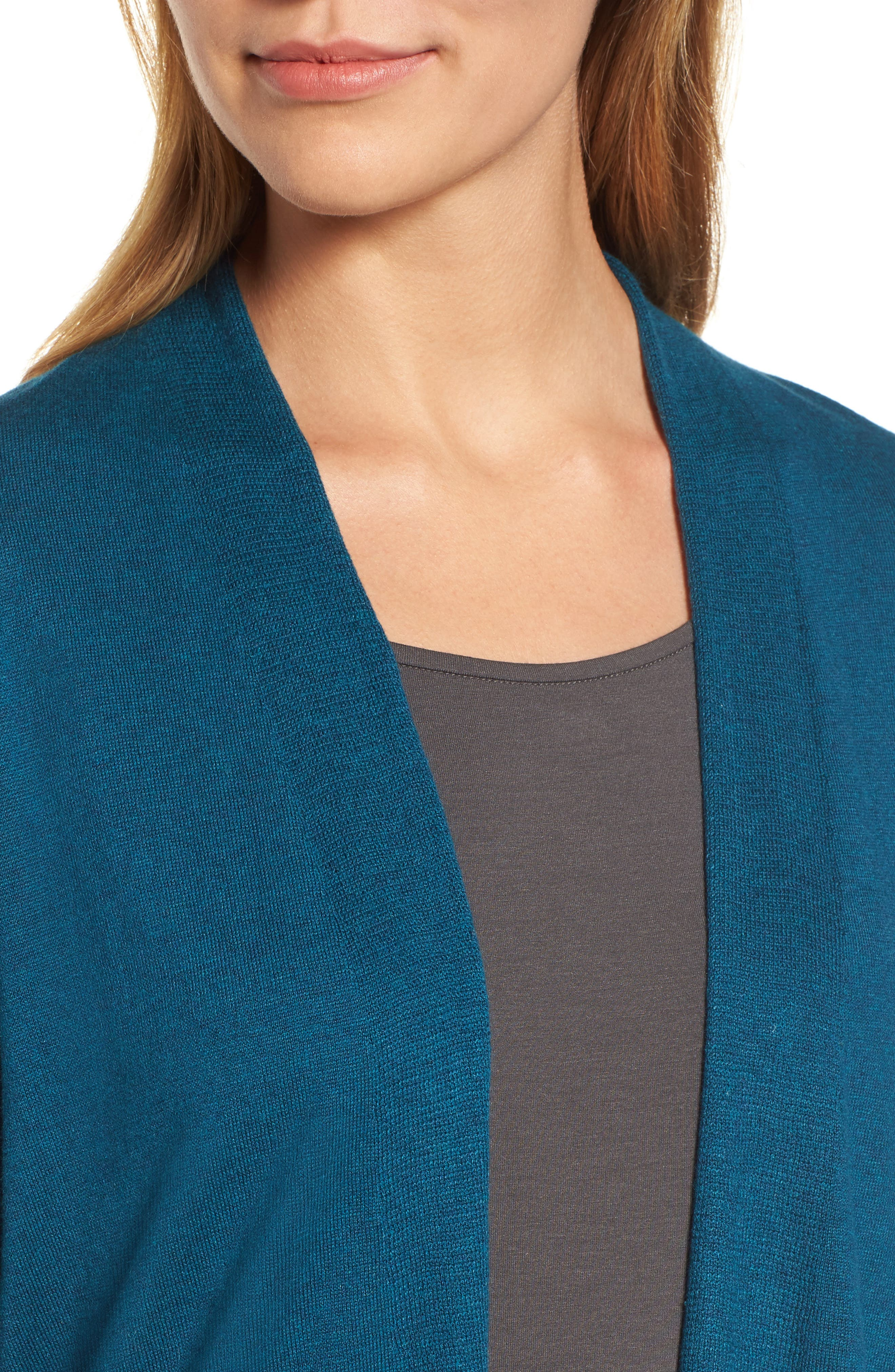 Shaped Tencel<sup>®</sup> Lyocell Blend Cardigan,                             Alternate thumbnail 14, color,