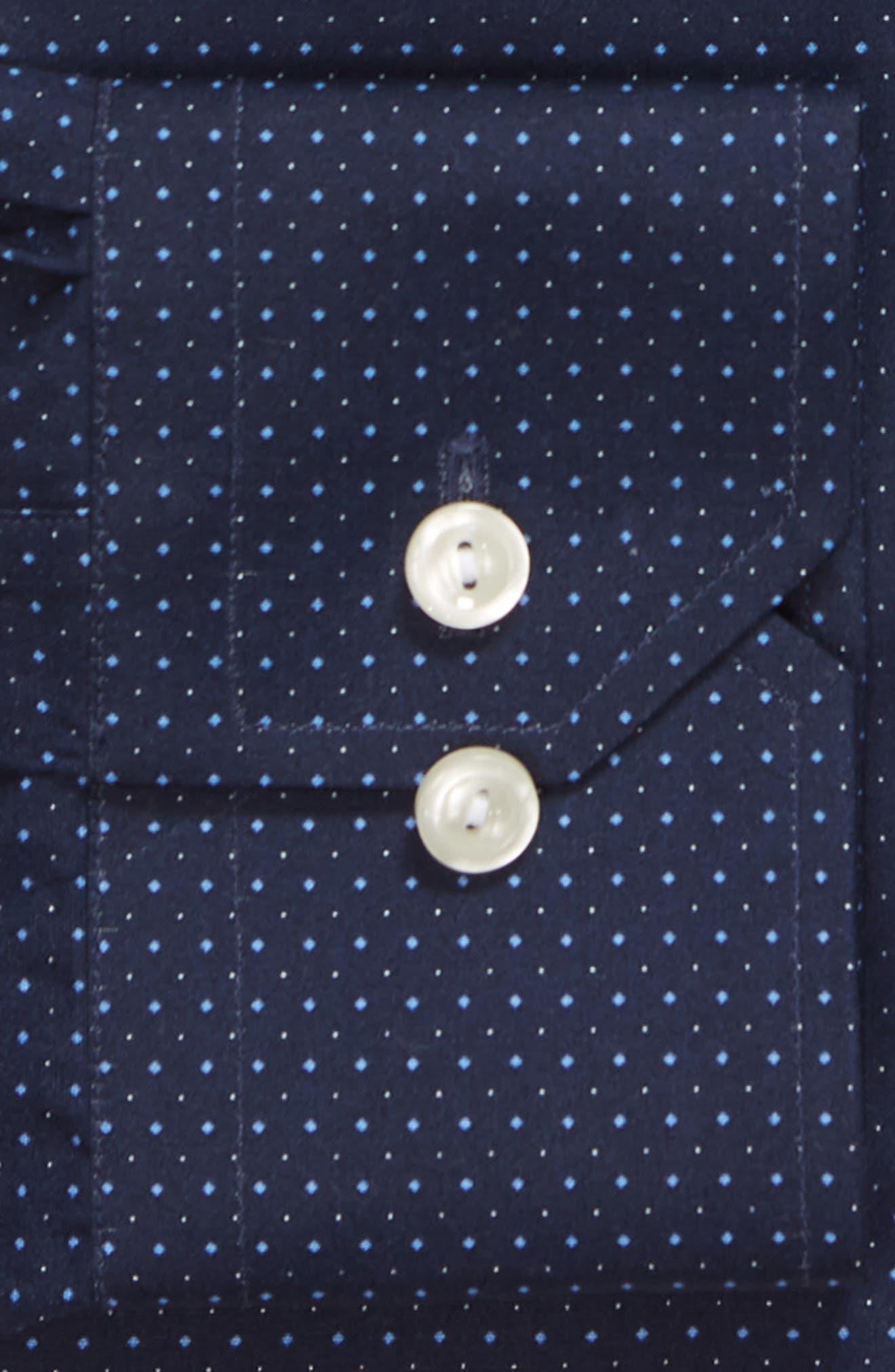 Contemporary Fit Dot Dress Shirt,                             Alternate thumbnail 9, color,