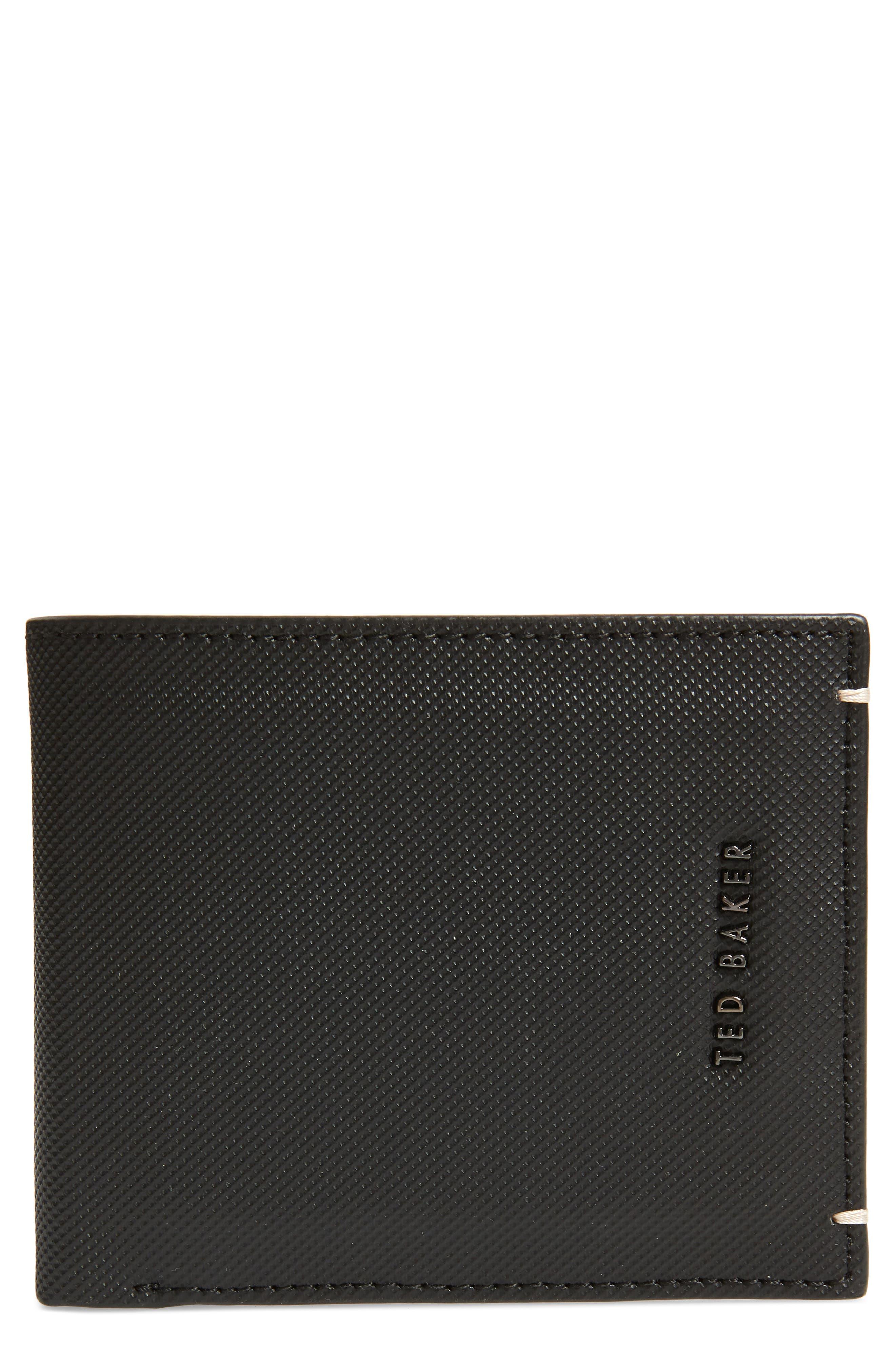 Stormz Leather Wallet,                         Main,                         color, BLACK