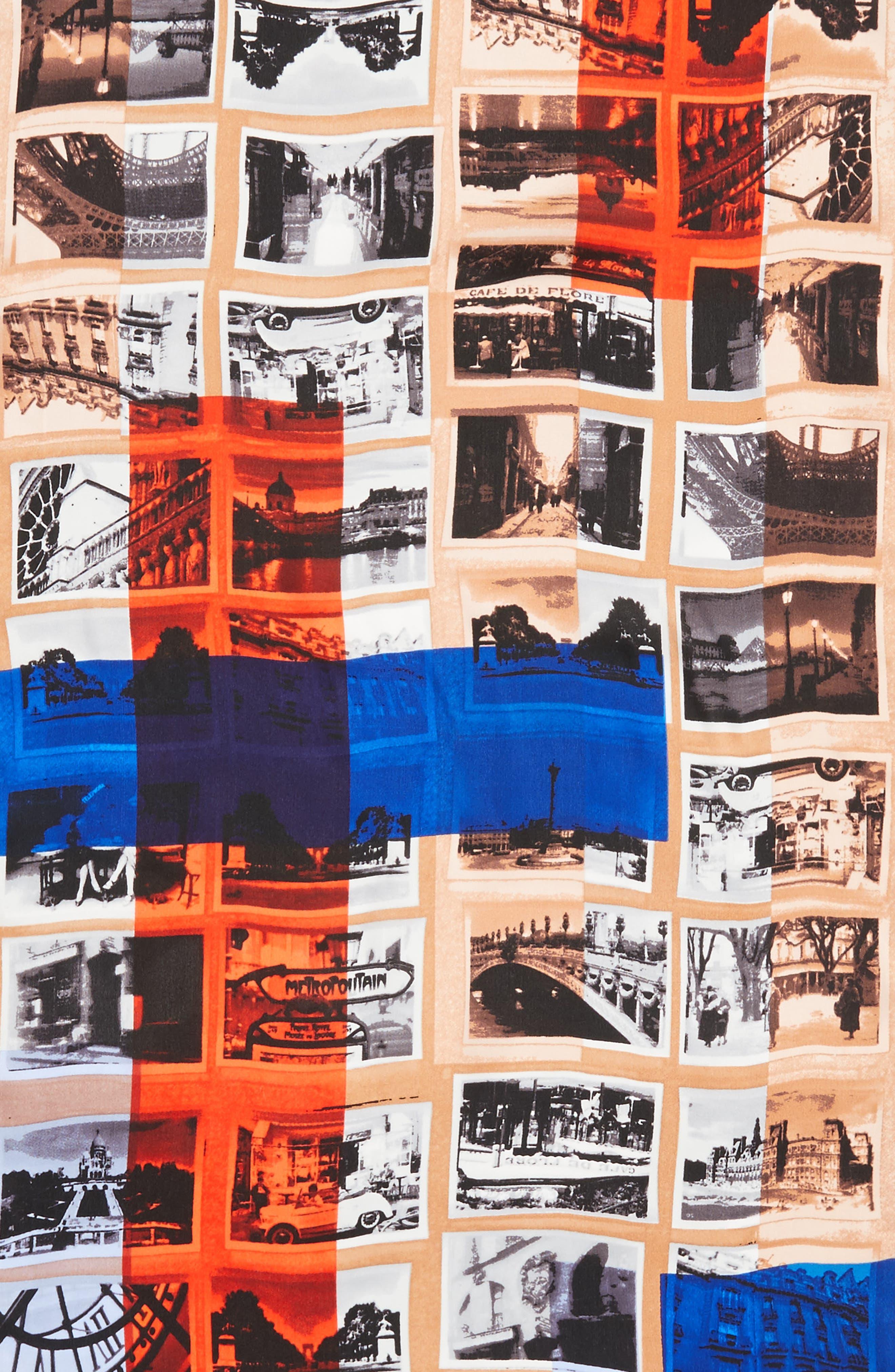 Paris Attic Photographs Silk Scarf,                             Alternate thumbnail 4, color,                             439