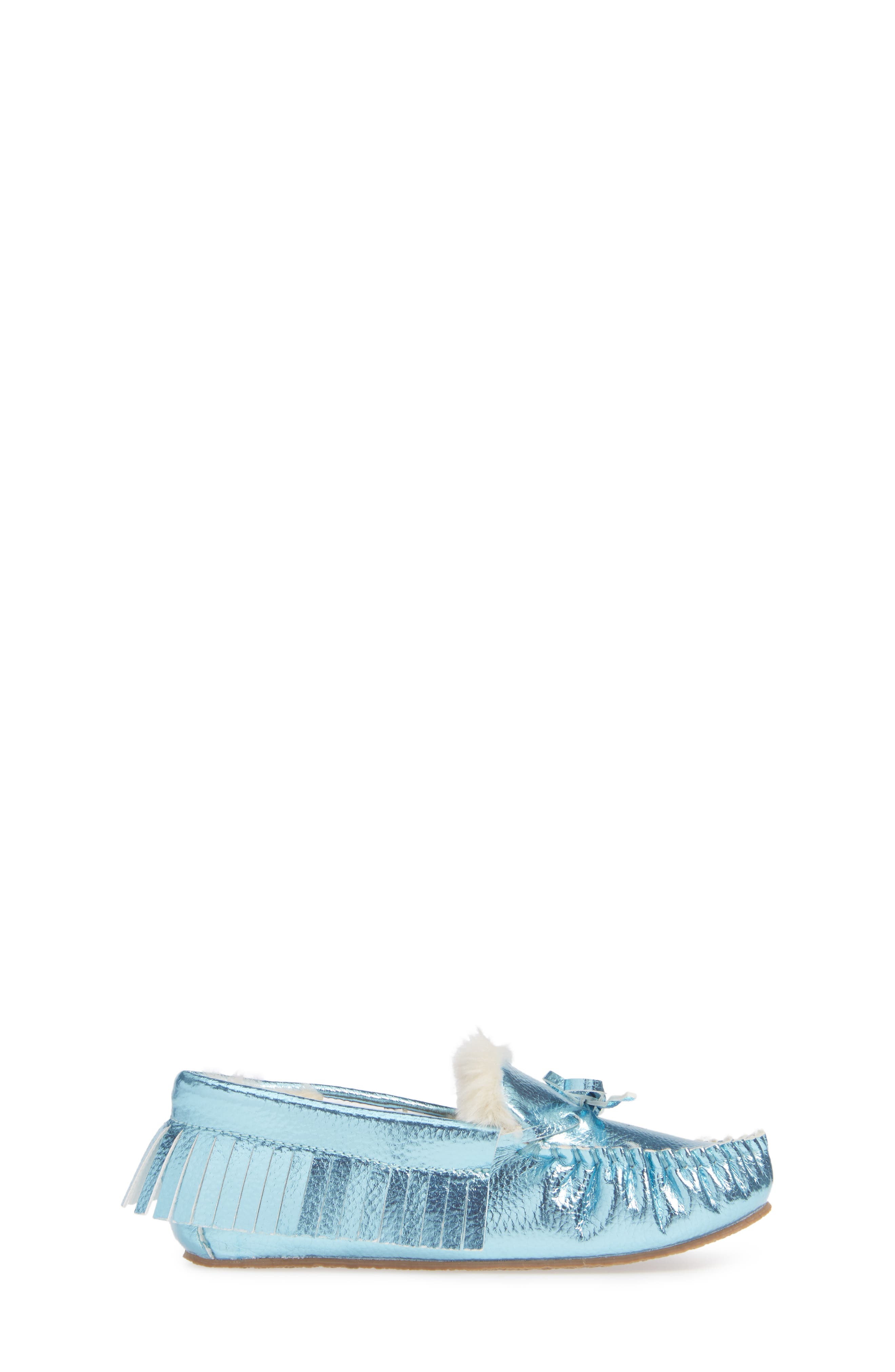 CREWCUTS BY J.CREW,                             Metallic Moccasin,                             Alternate thumbnail 3, color,                             FADED SKY