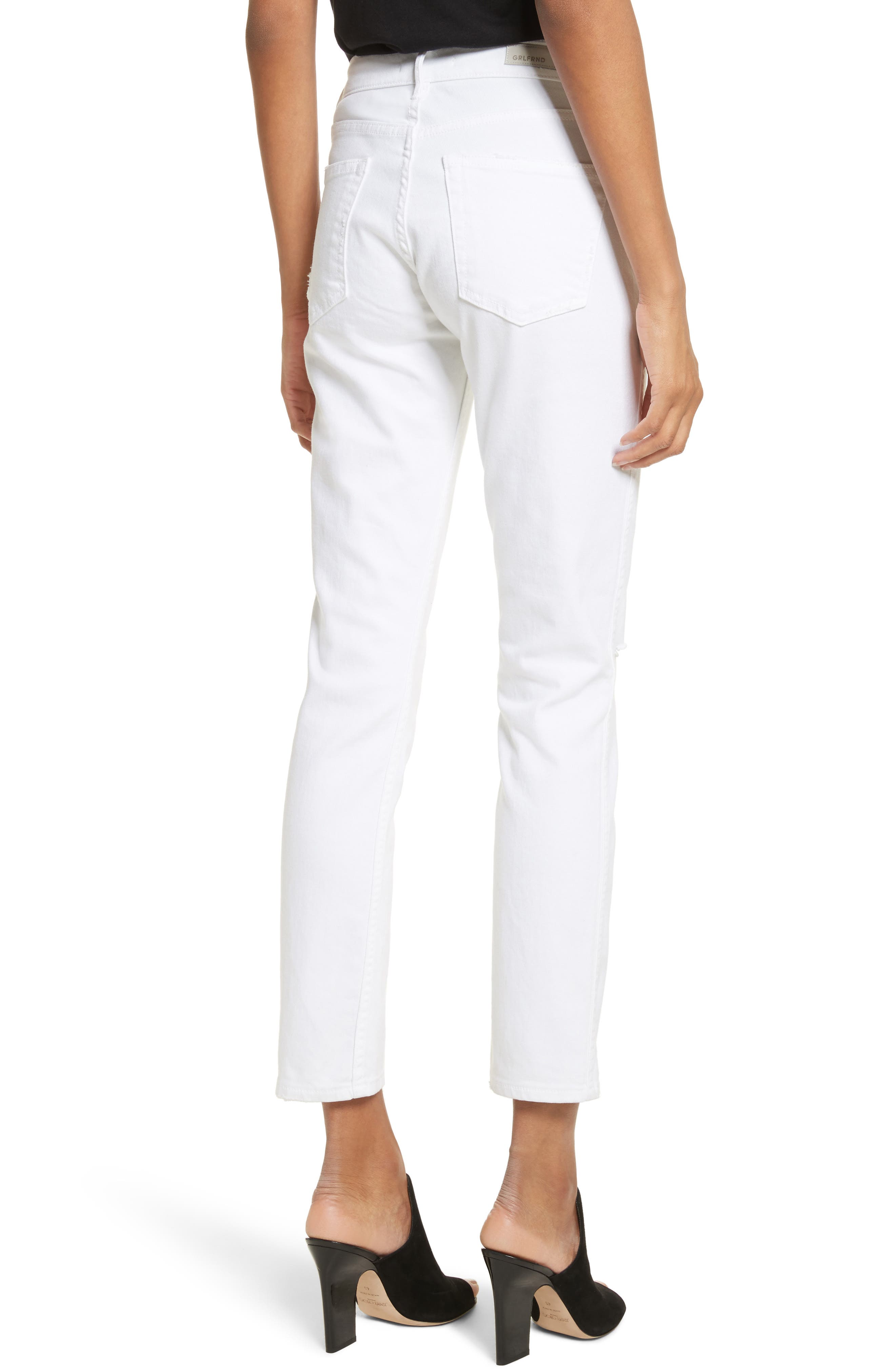Naomi High Waist Skinny Jeans,                             Alternate thumbnail 2, color,                             100