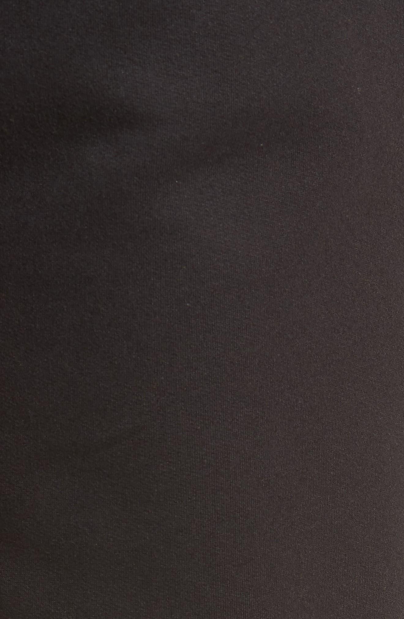 Slim Fit Logo Sweatpants,                             Alternate thumbnail 5, color,                             BLACK