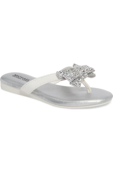 e6480cdac MICHAEL Michael Kors Embellished Bow Flip Flop (Toddler