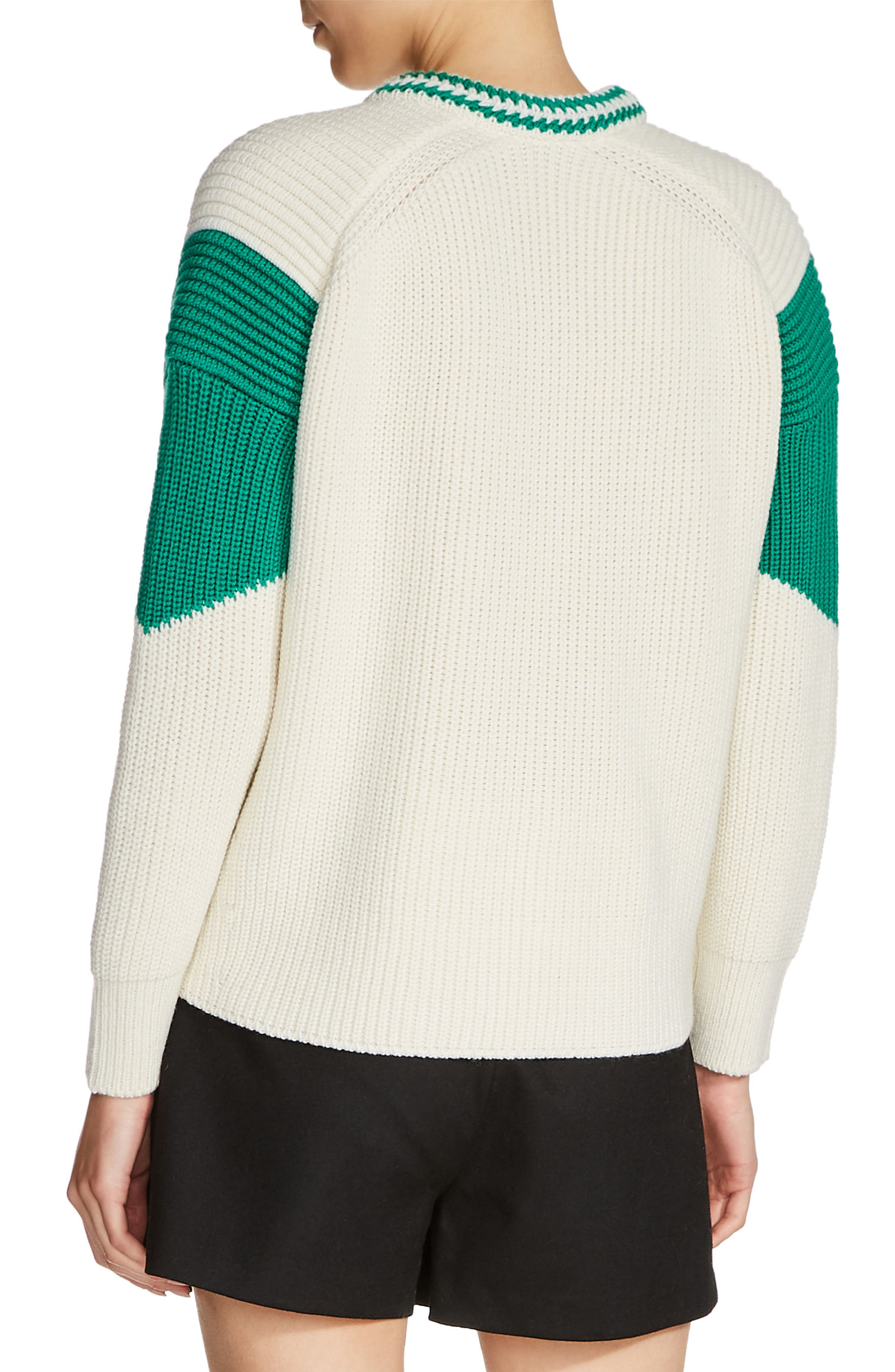 Snap Shoulder Sweater,                             Alternate thumbnail 2, color,