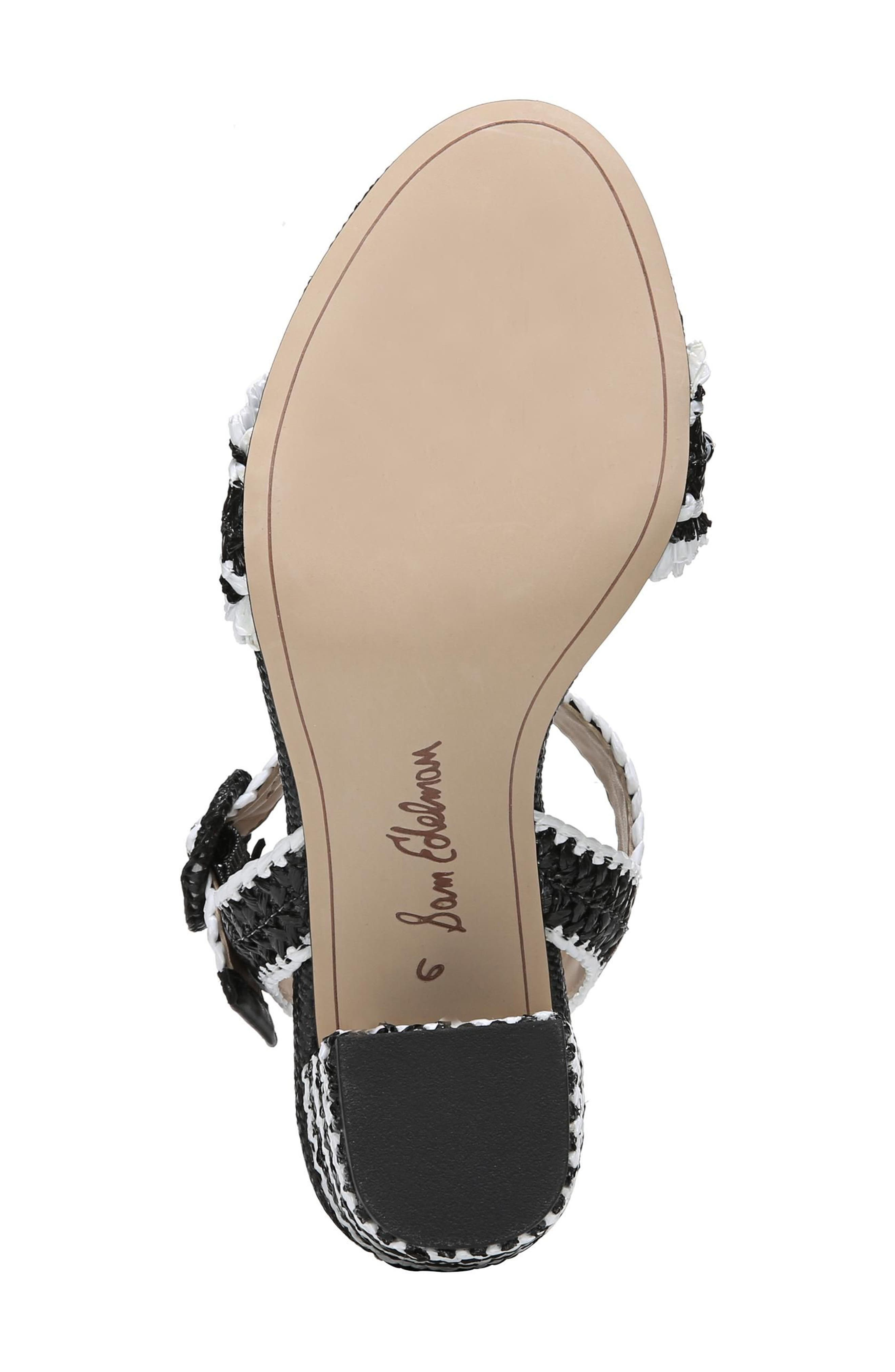 Olisa Block Heel Sandal,                             Alternate thumbnail 6, color,                             001