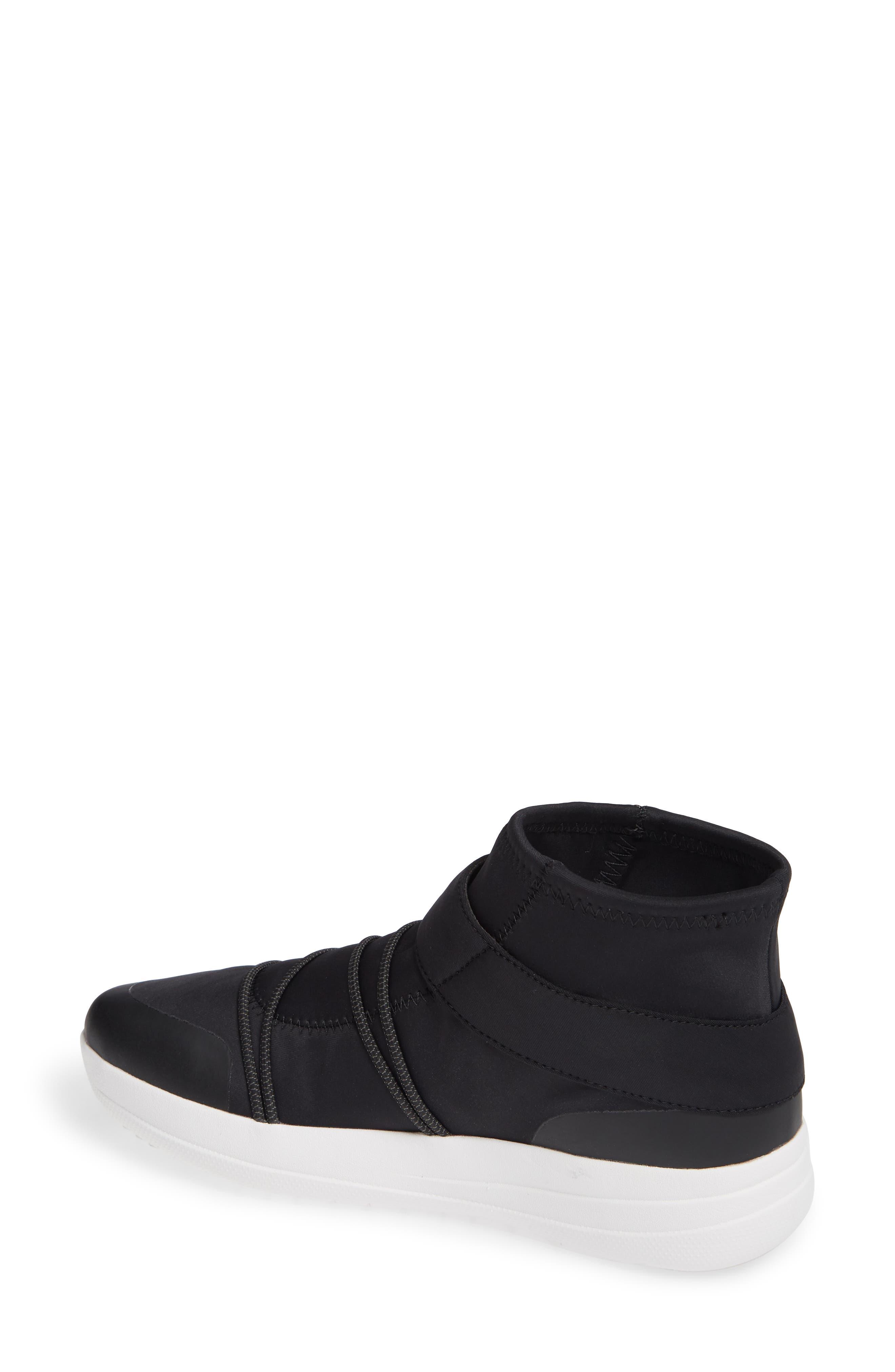 Neoflex High Top Sneaker,                             Alternate thumbnail 2, color,                             BLACK FABRIC