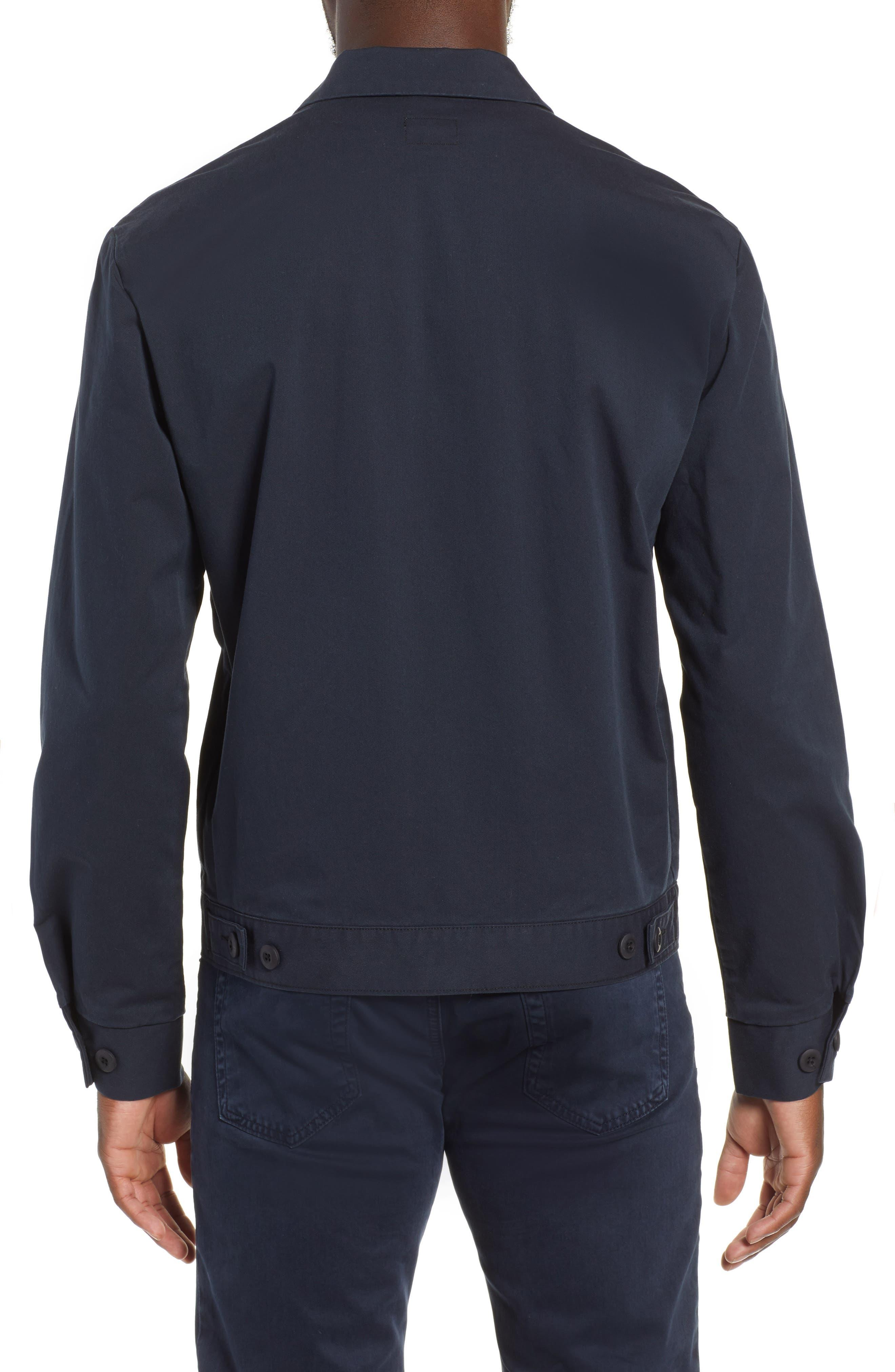 Axle Shop Regular Stretch Cotton Blend Jacket,                             Alternate thumbnail 2, color,                             BLUE VAULT/ BLACK