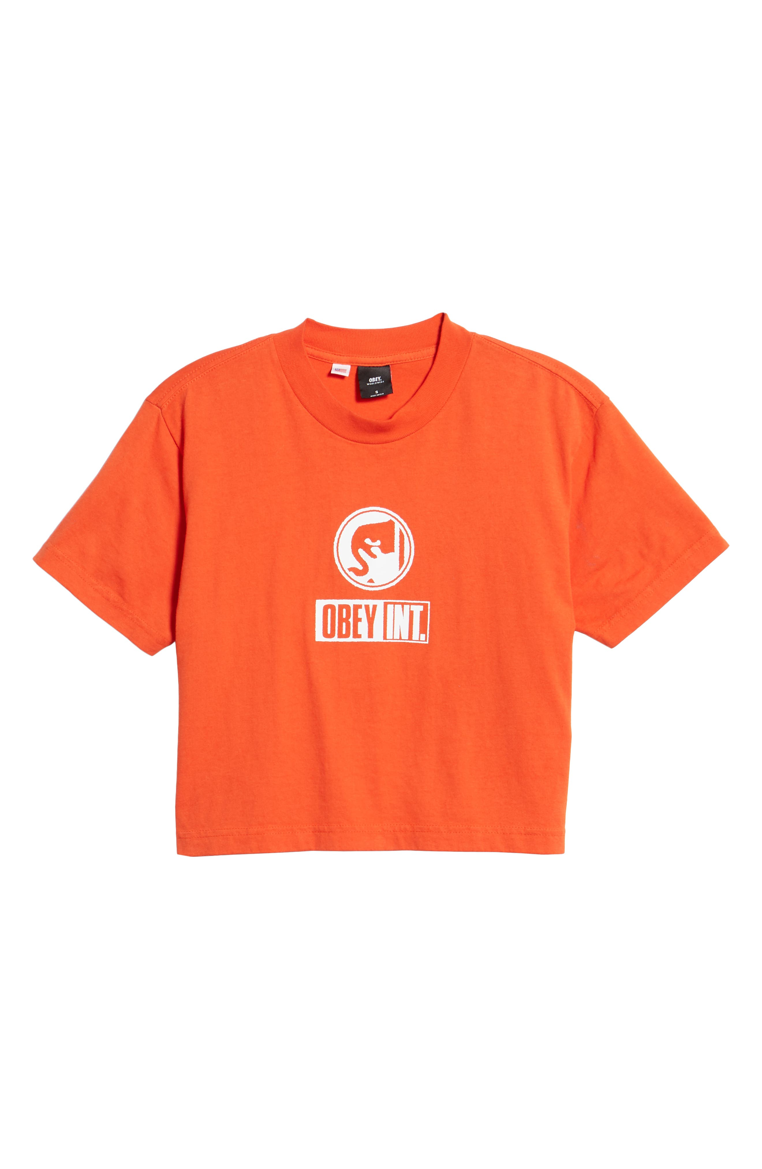 Int. Icon Crop Tee,                             Alternate thumbnail 6, color,                             800