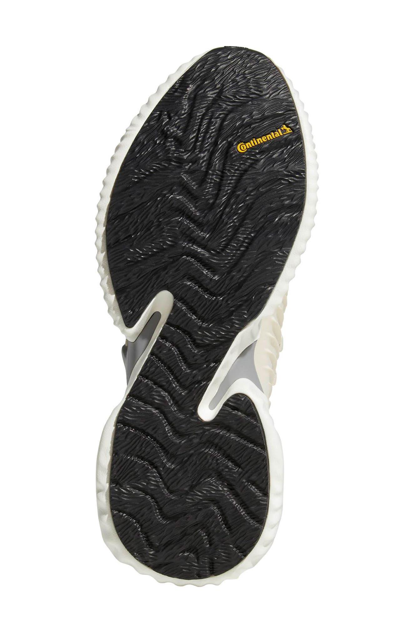 AlphaBounce Instinct Running Shoe,                             Alternate thumbnail 3, color,                             LINEN / CLOUD WHITE / GREY