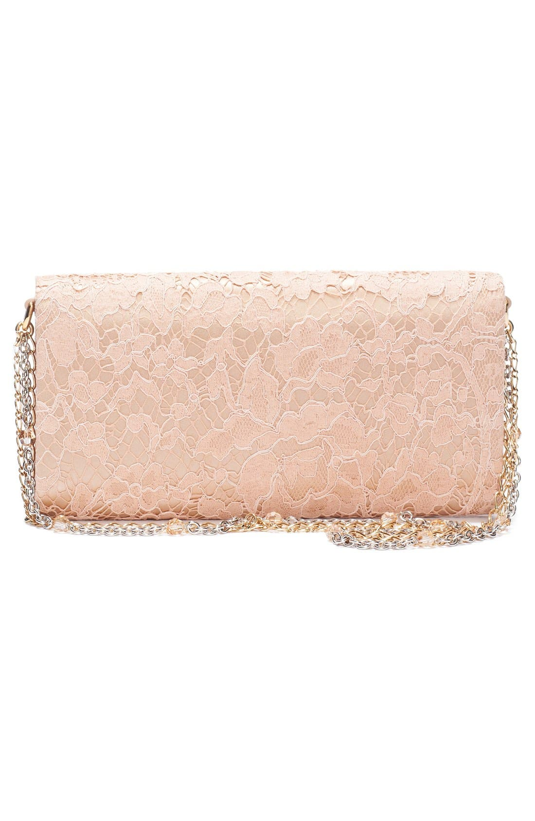 Lace Pouchette Clutch,                             Alternate thumbnail 4, color,