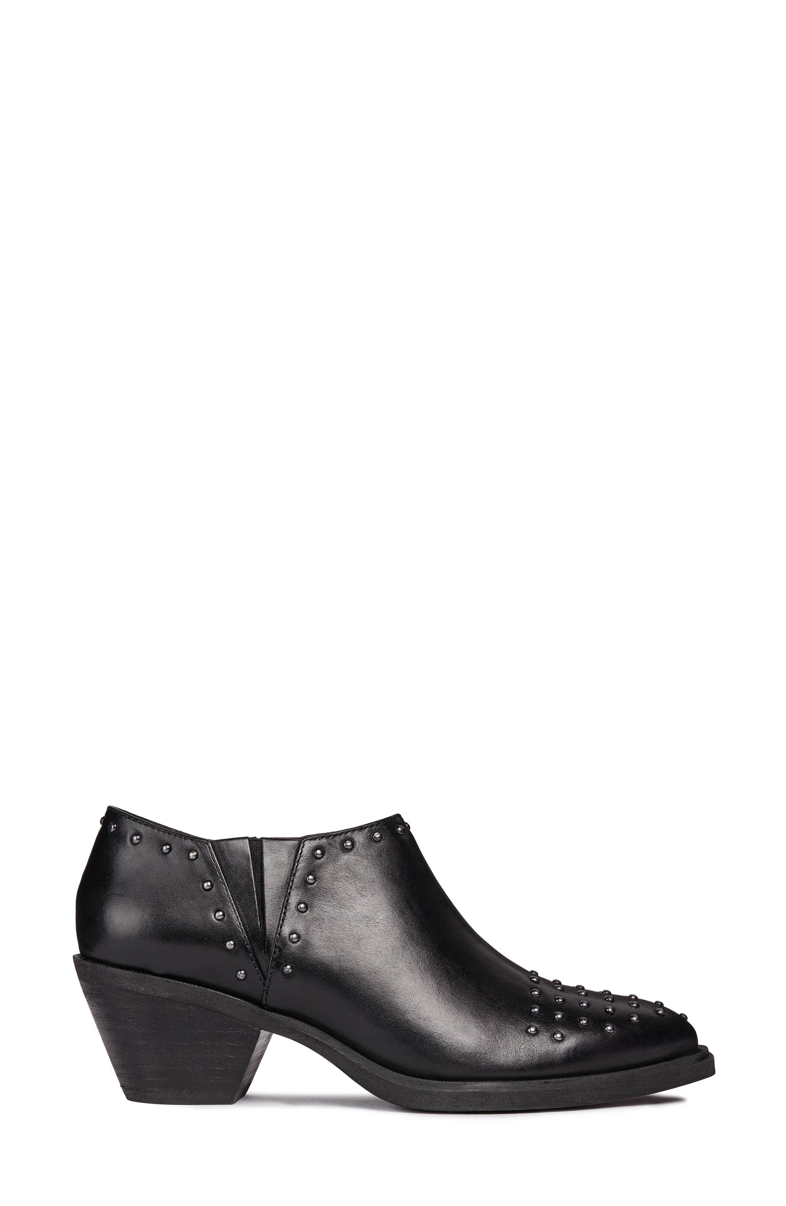 Lovai Ankle Boot,                             Alternate thumbnail 3, color,                             BLACK LEATHER