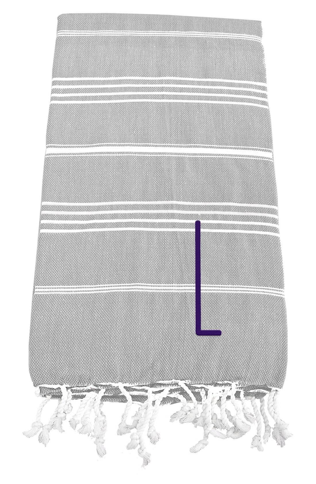 Monogram Turkish Cotton Towel,                             Main thumbnail 14, color,