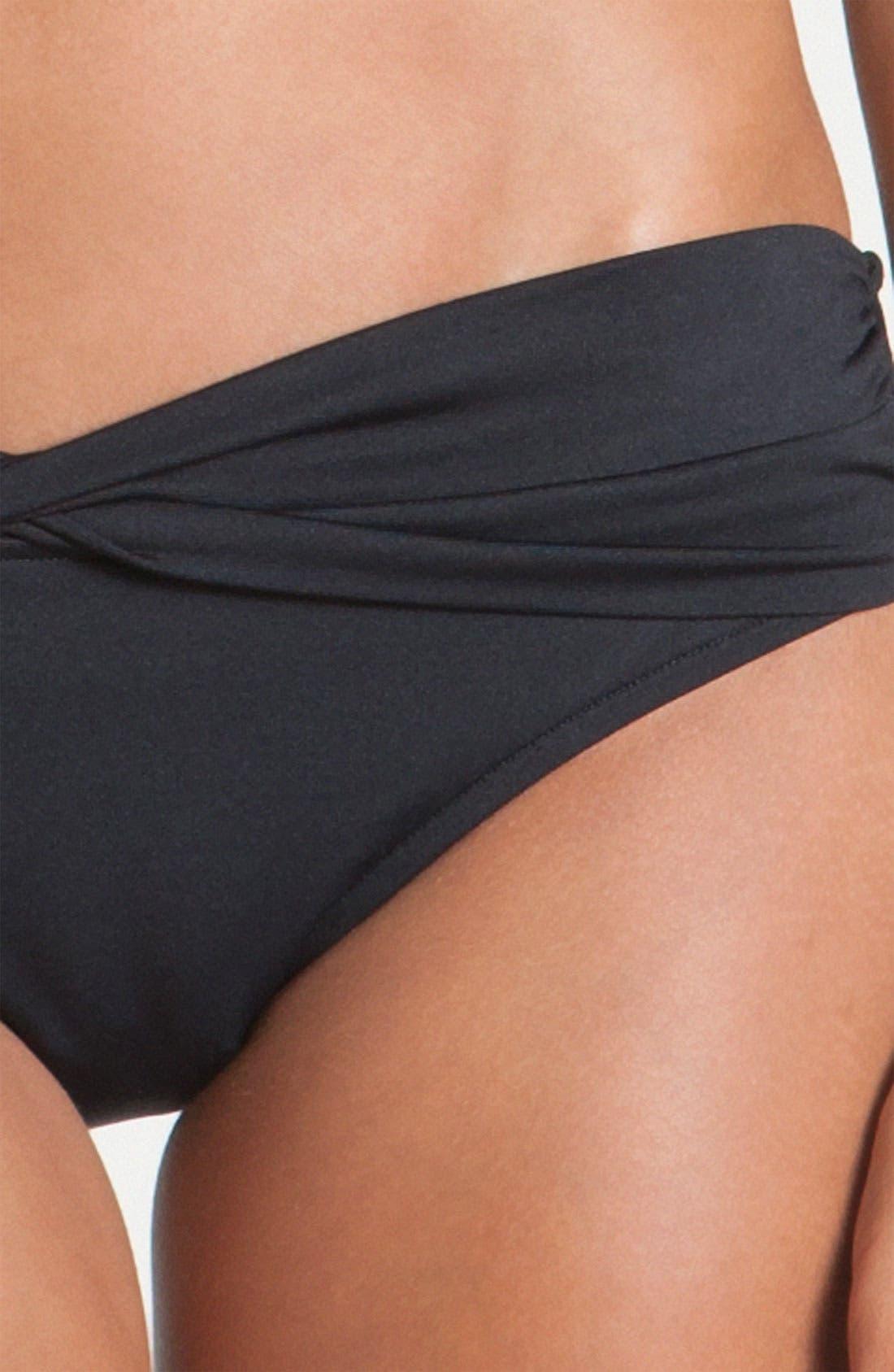 Hipster Bikini Bottoms,                             Alternate thumbnail 4, color,                             BLACK