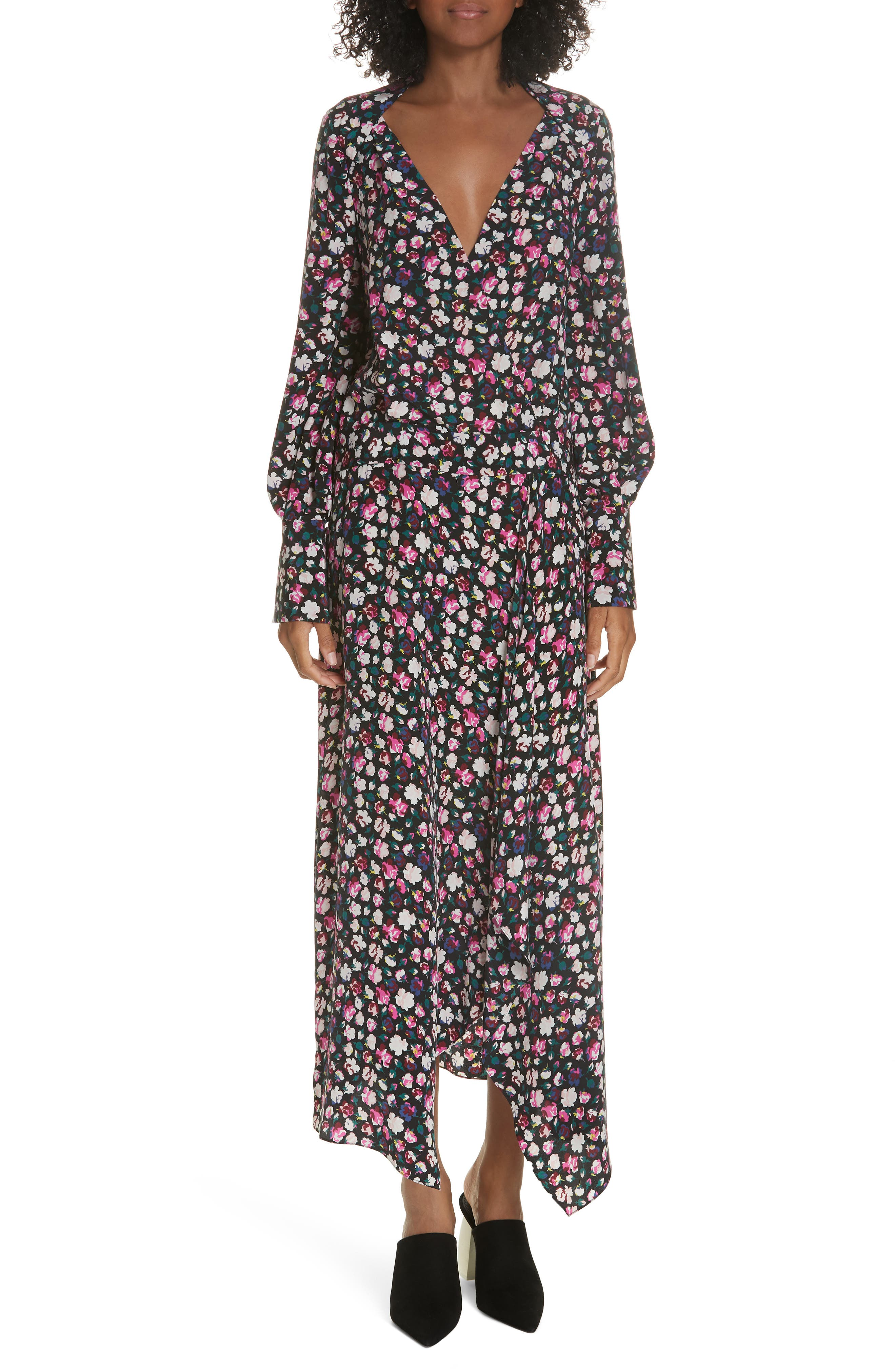Equipment Neema Floral Faux Wrap Dress
