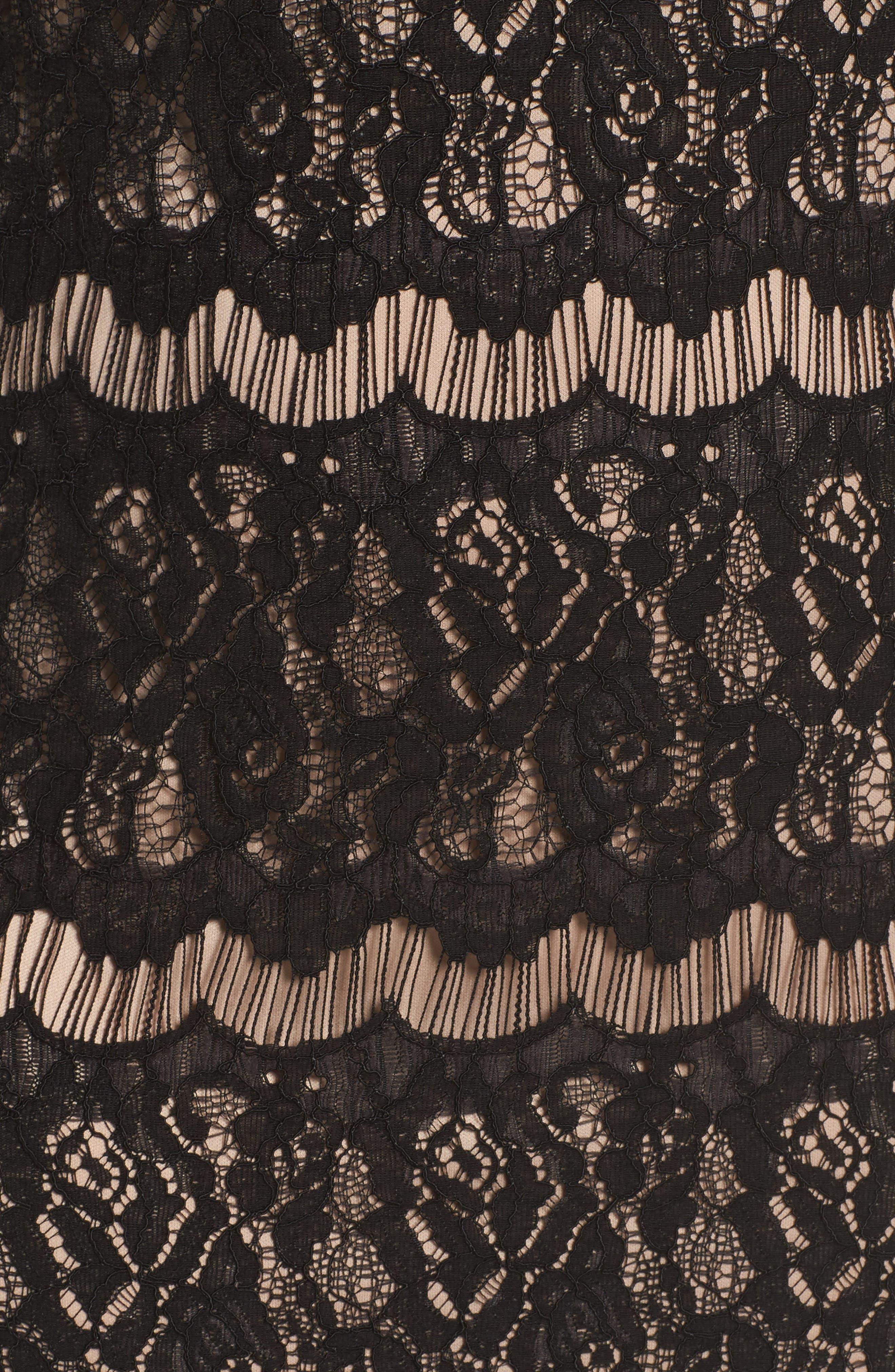 Lace Empire Gown,                             Alternate thumbnail 5, color,                             003