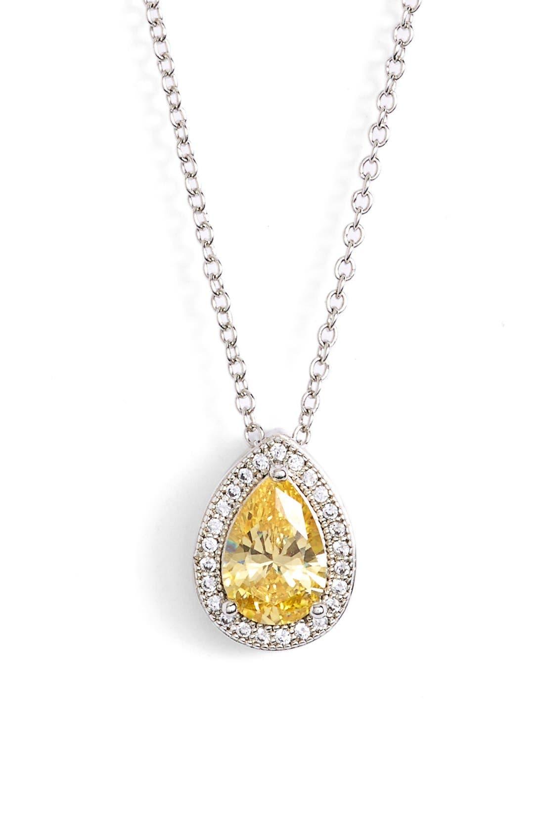 'Lassaire' CanaryStone Pendant Necklace,                             Main thumbnail 1, color,                             700