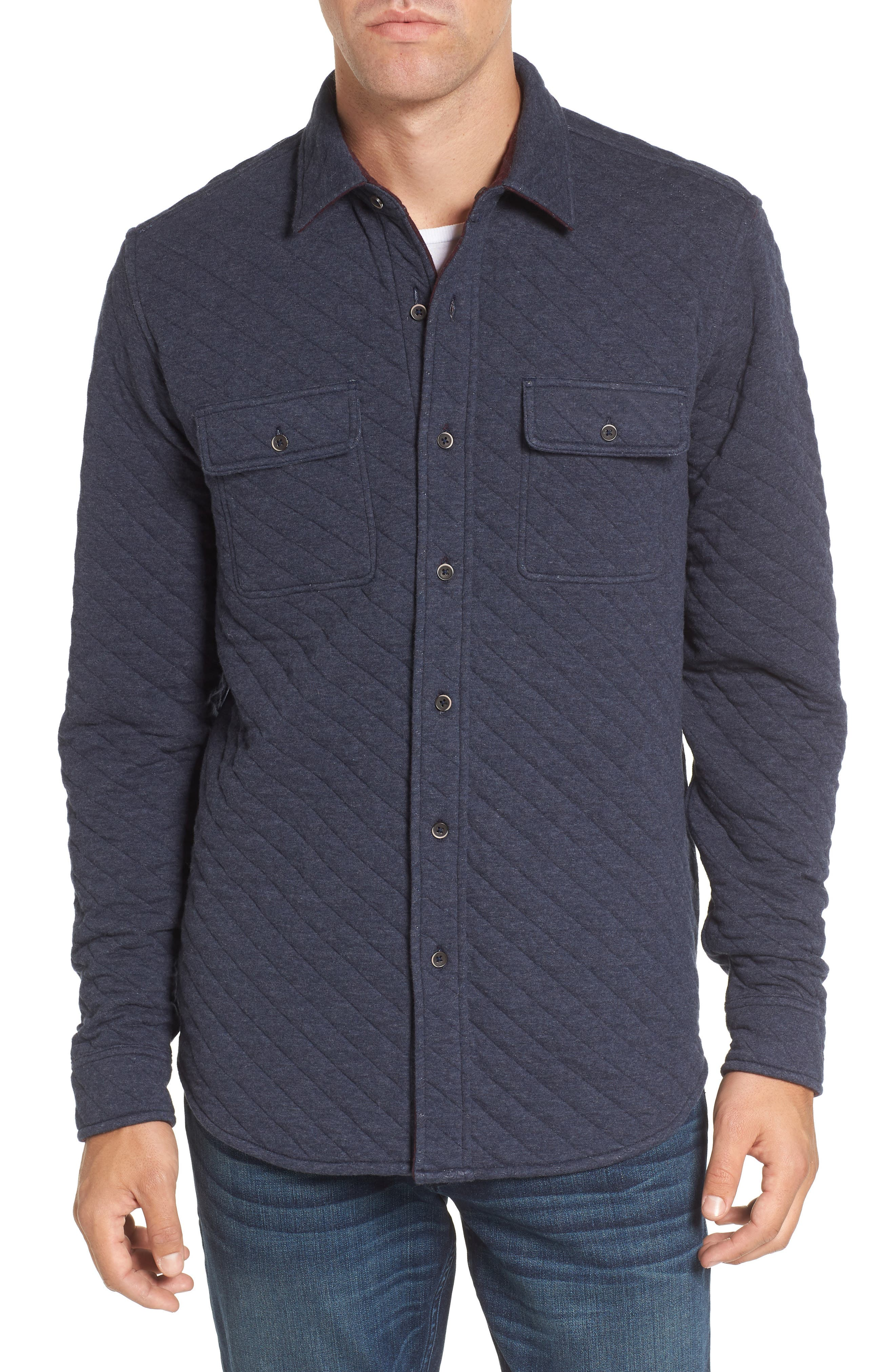 Reversible Double-Face Quilted Shirt,                             Main thumbnail 2, color,