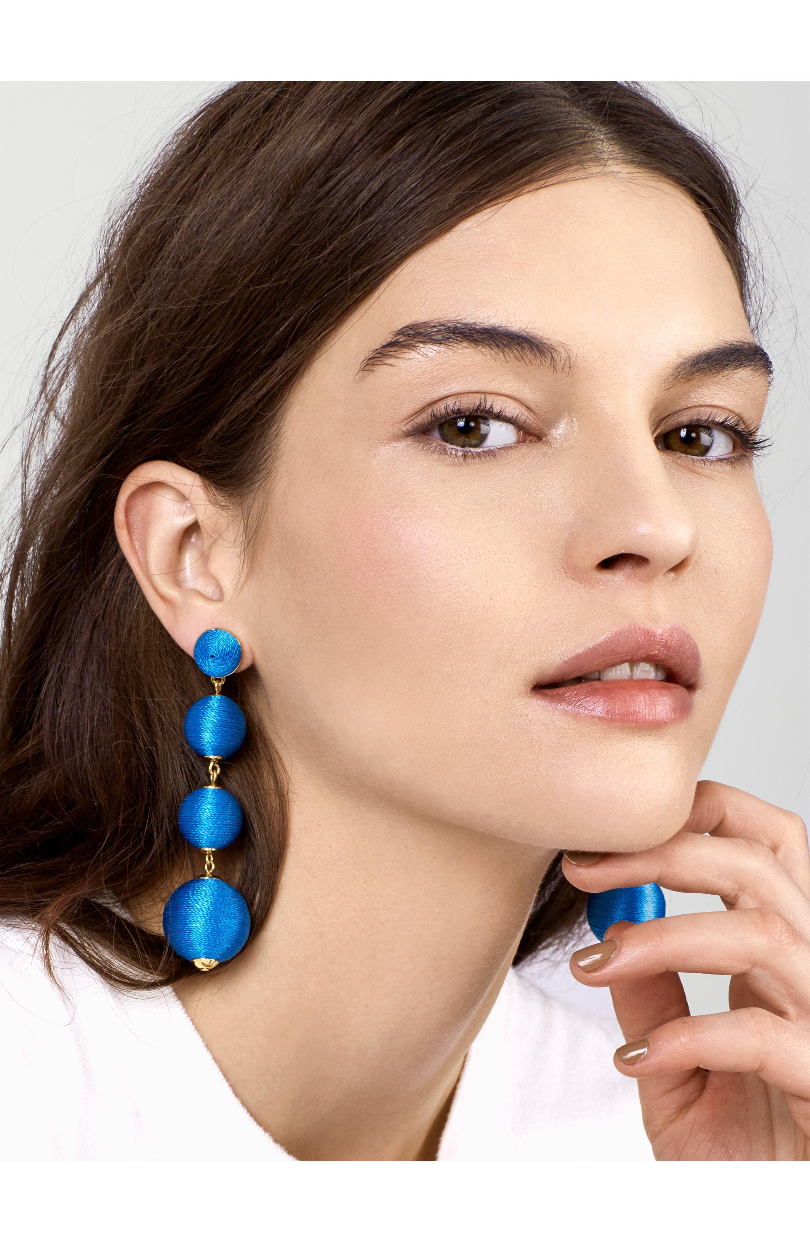 Criselda Ball Shoulder Duster Earrings,                             Alternate thumbnail 13, color,