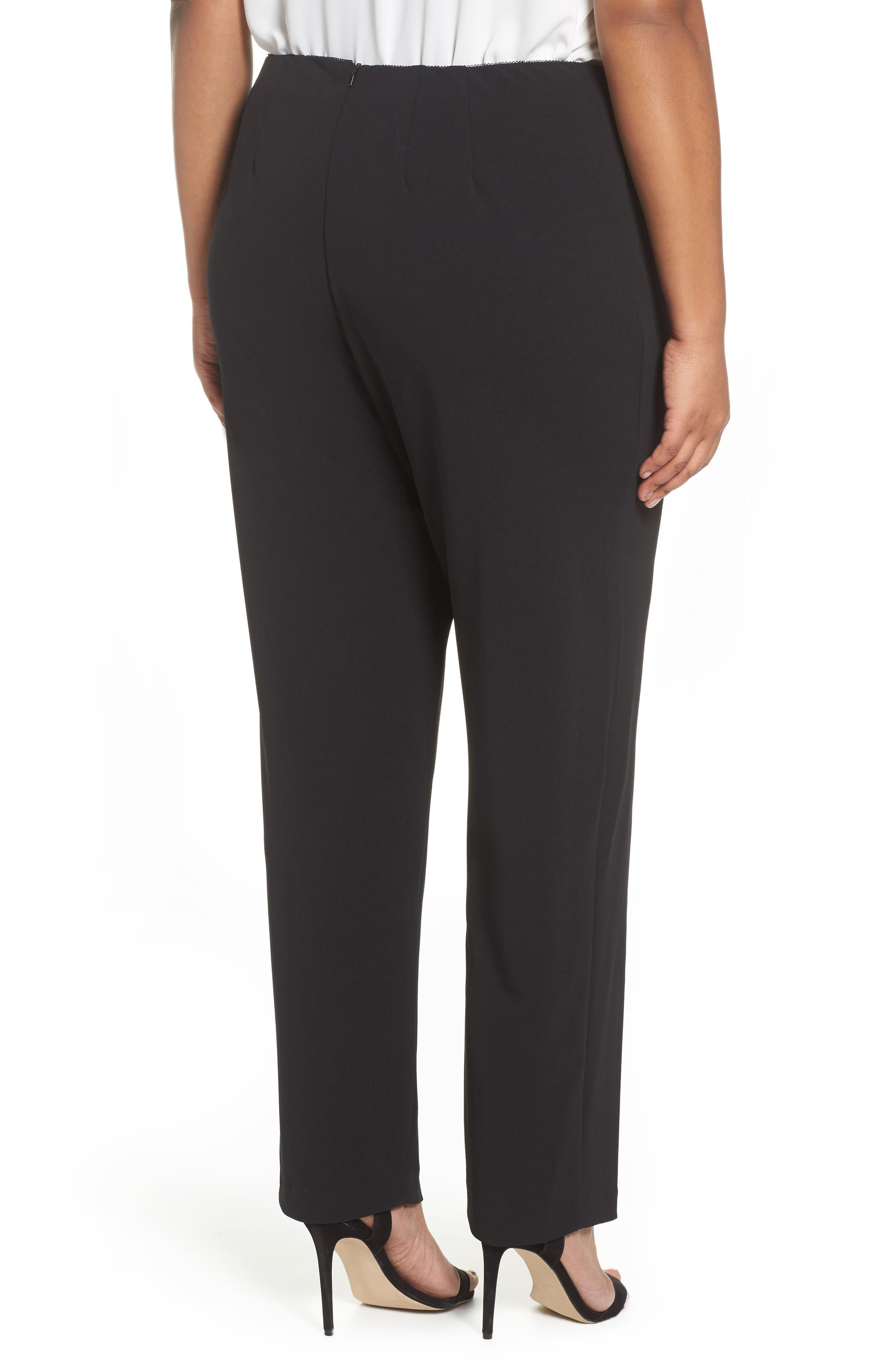 Slim Leg Pants,                             Alternate thumbnail 2, color,                             BLACK