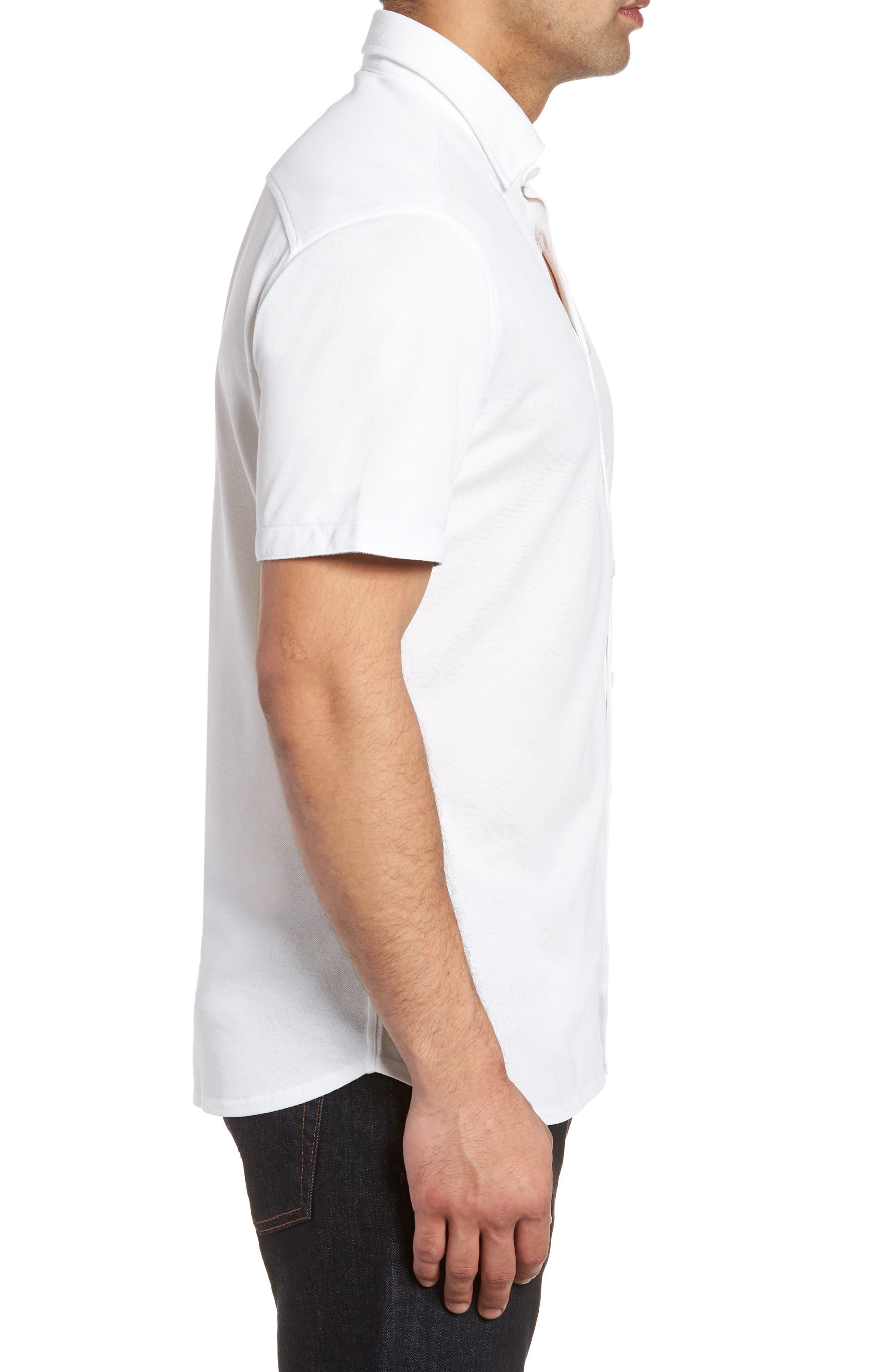 Knit Sport Shirt,                             Alternate thumbnail 3, color,                             100