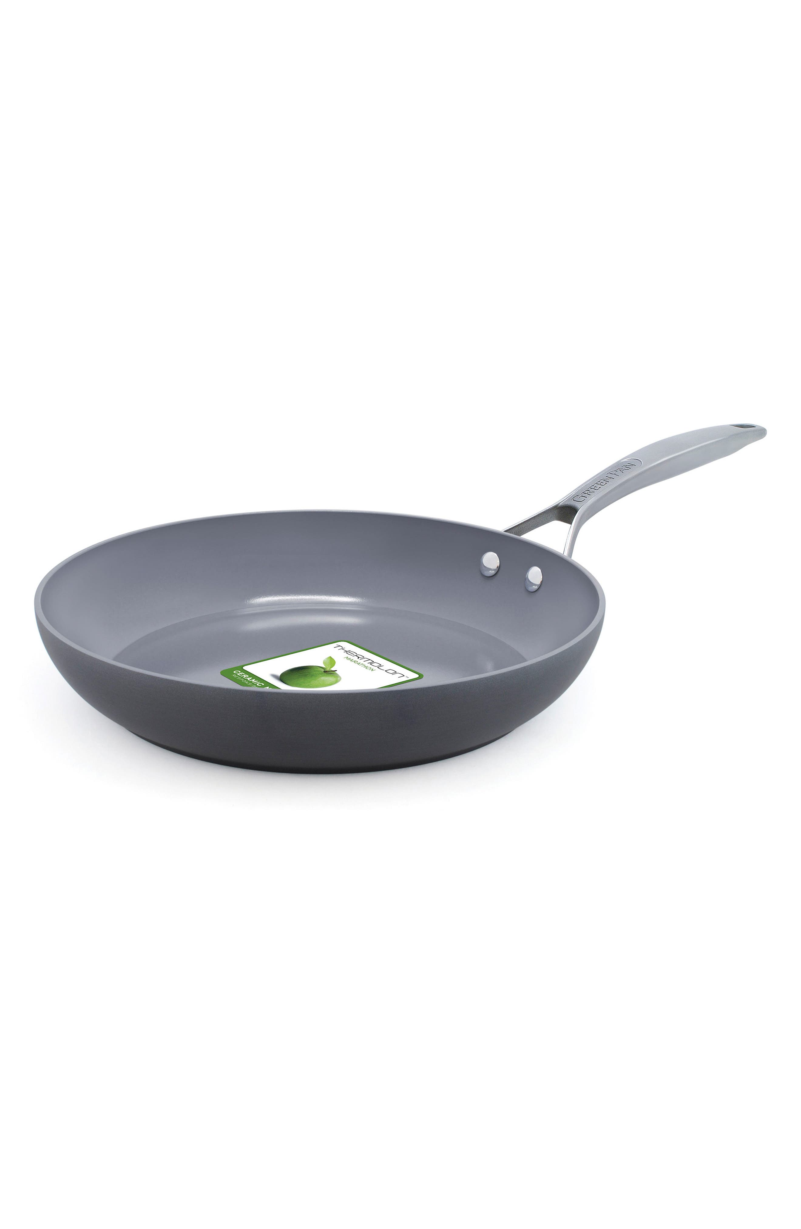 Paris 10-Inch Anodized Aluminum Ceramic Nonstick Frying Pan,                         Main,                         color, GREY