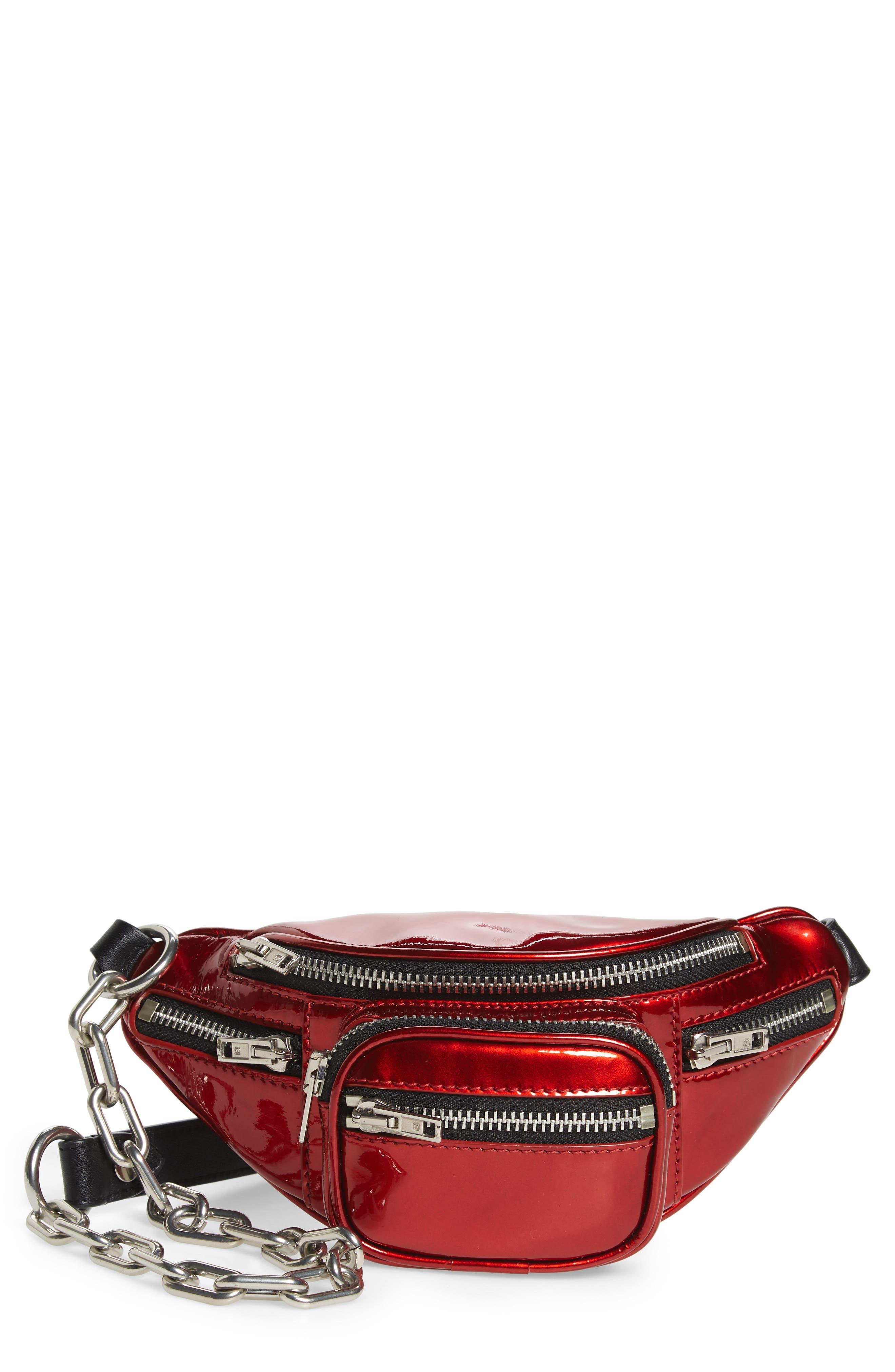 Mini Attica Leather Belt Bag - Red